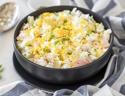 Creamed herring salad recipe
