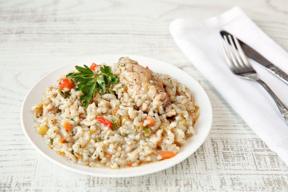 Chicken breast risotto
