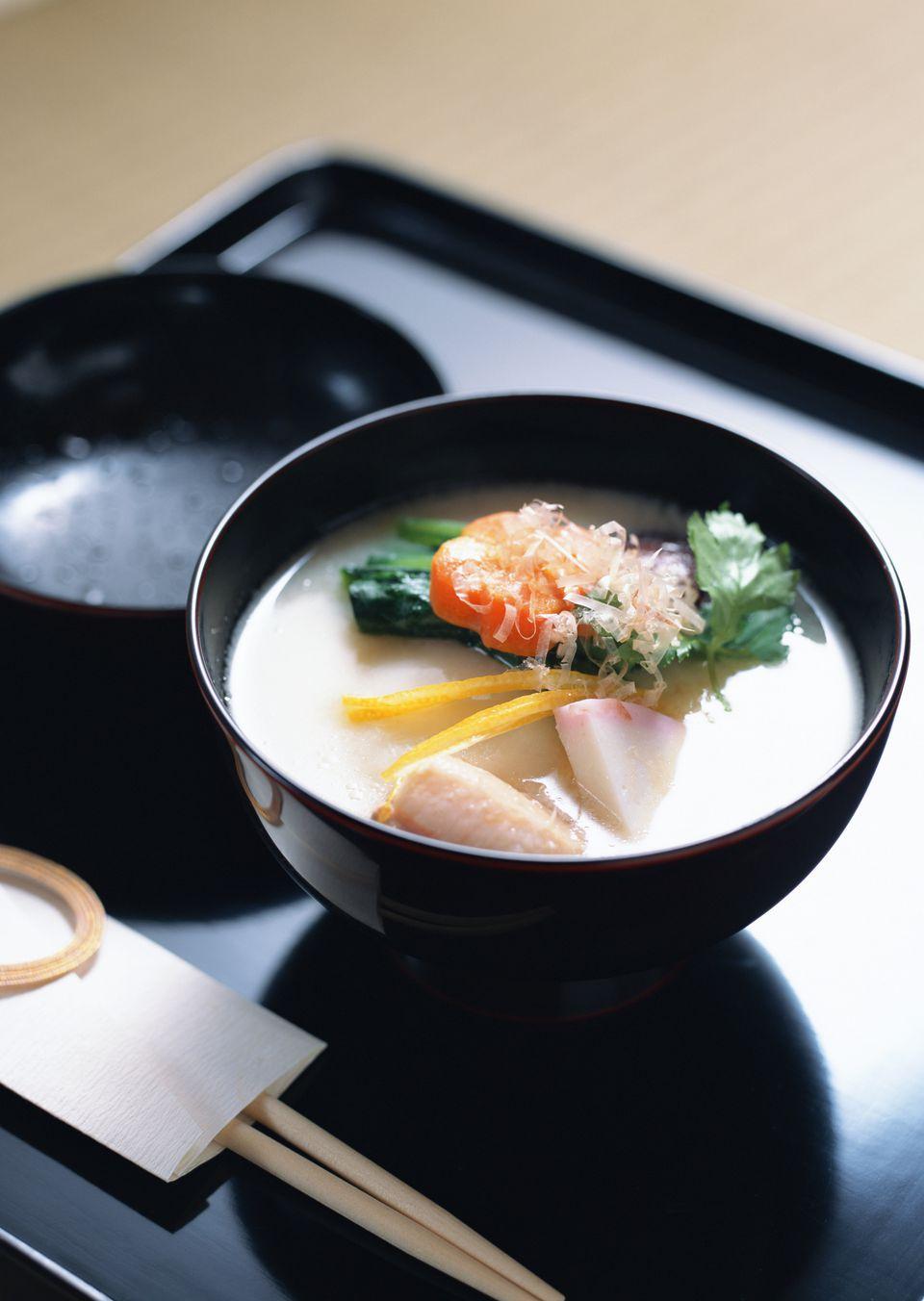 Receta de sopa de Mochi de Año Nuevo