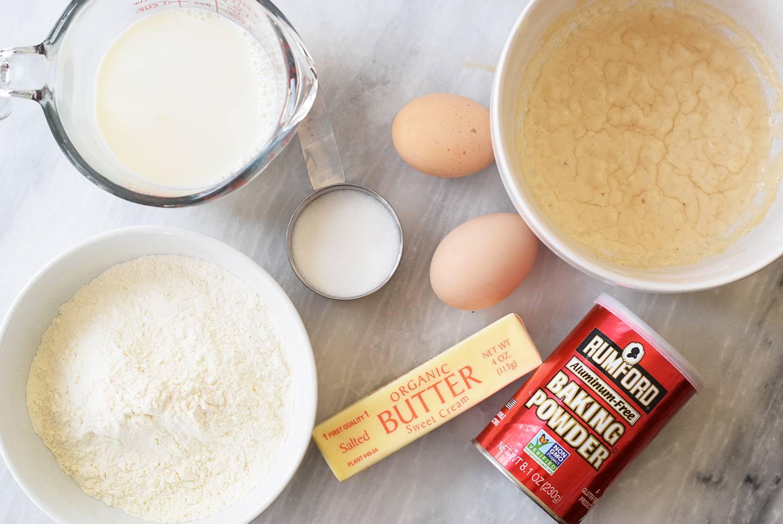 Ingredients for Sourdough Pancakes