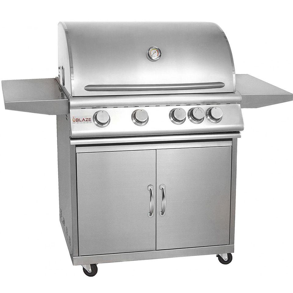 Blaze 32-Inch 4-Burner Gas Grill Model# BLZ-4-LP