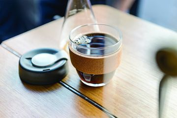 KeepCup filled with coffee