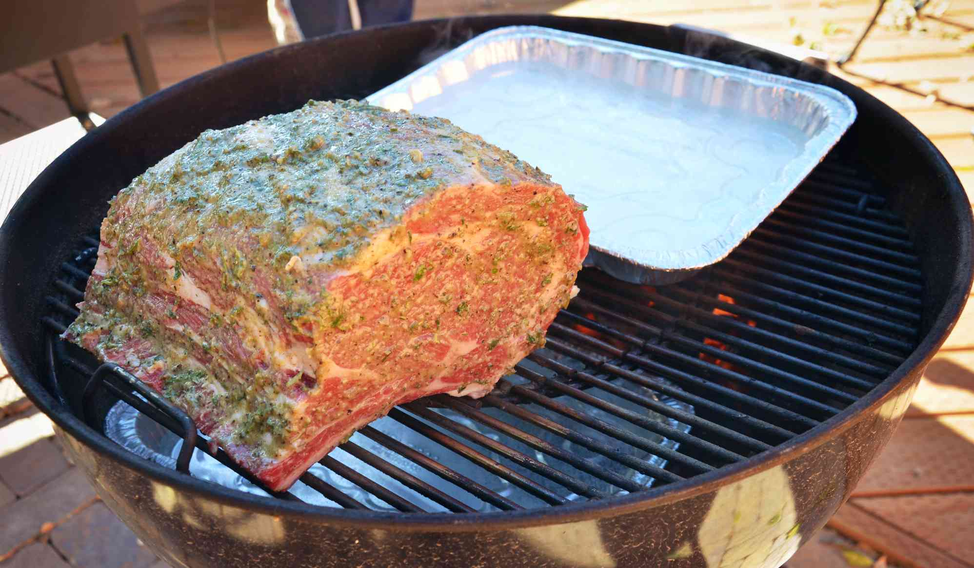 Prime Rib on Charcoal Grill