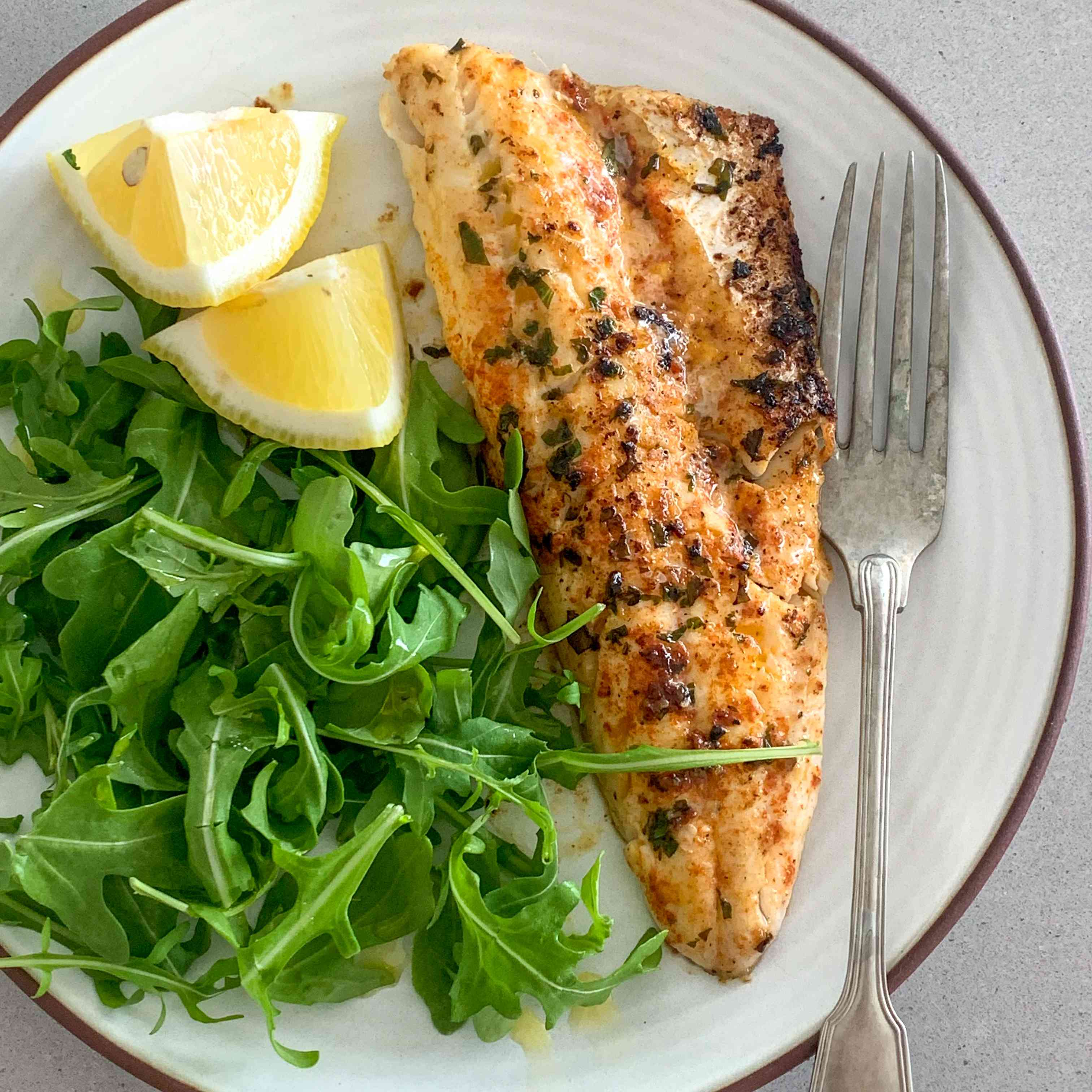 Grilled Sea Bass With Garlic Butter Tester Image