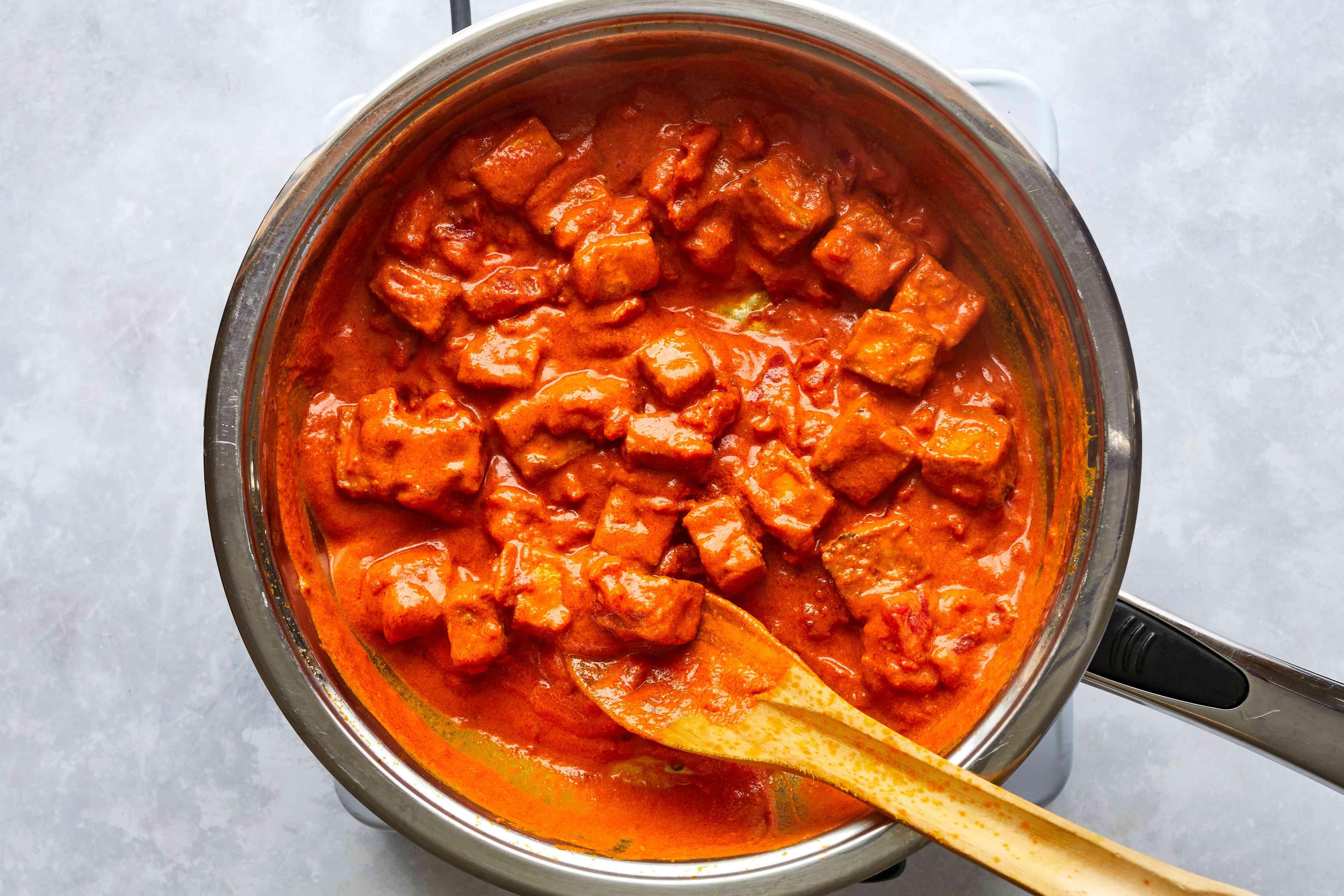 Add tofu to skillet