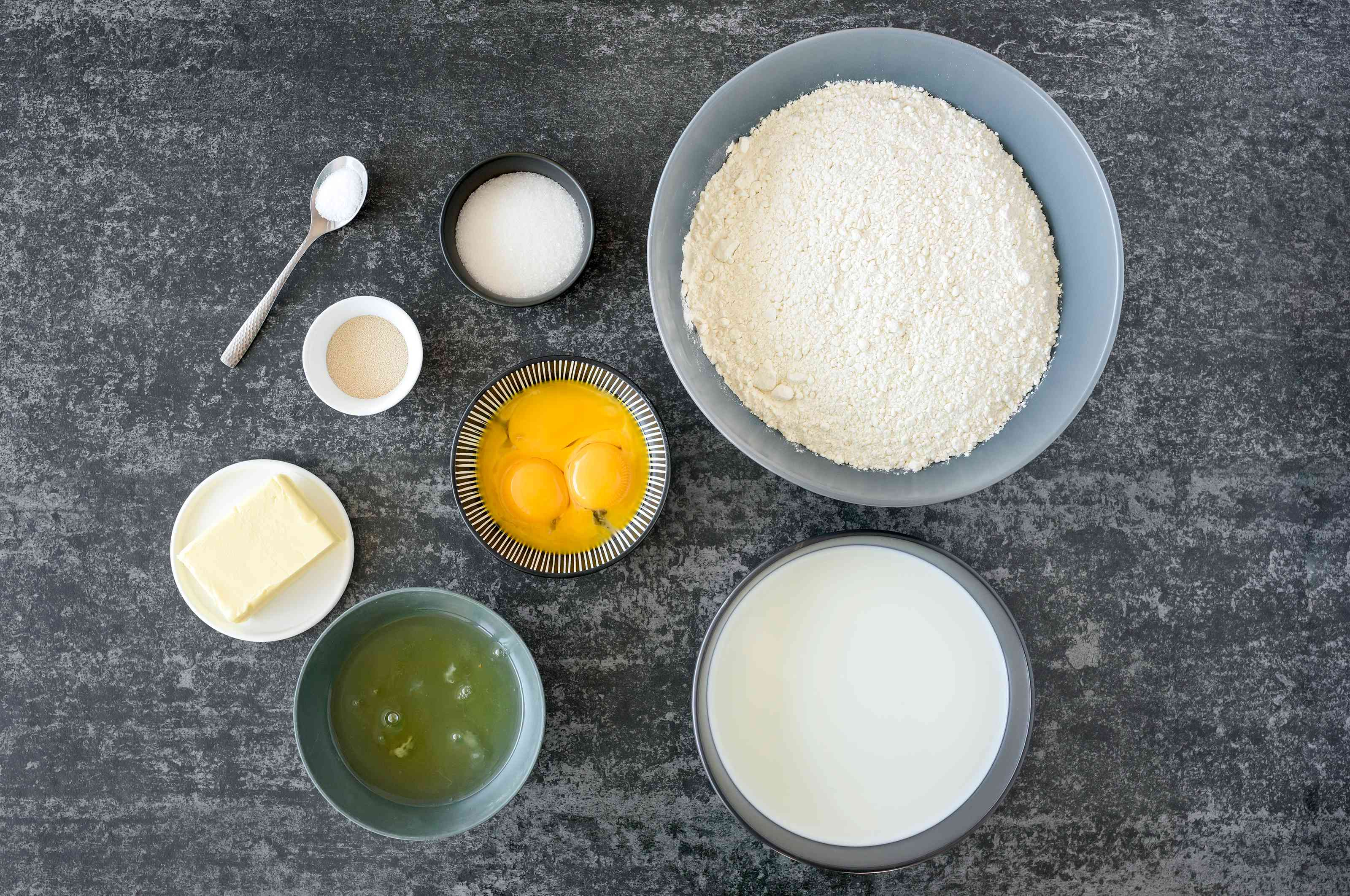 Ingredients for bread dough