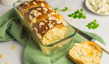 Herbed goat cheese and apricot babka recipe
