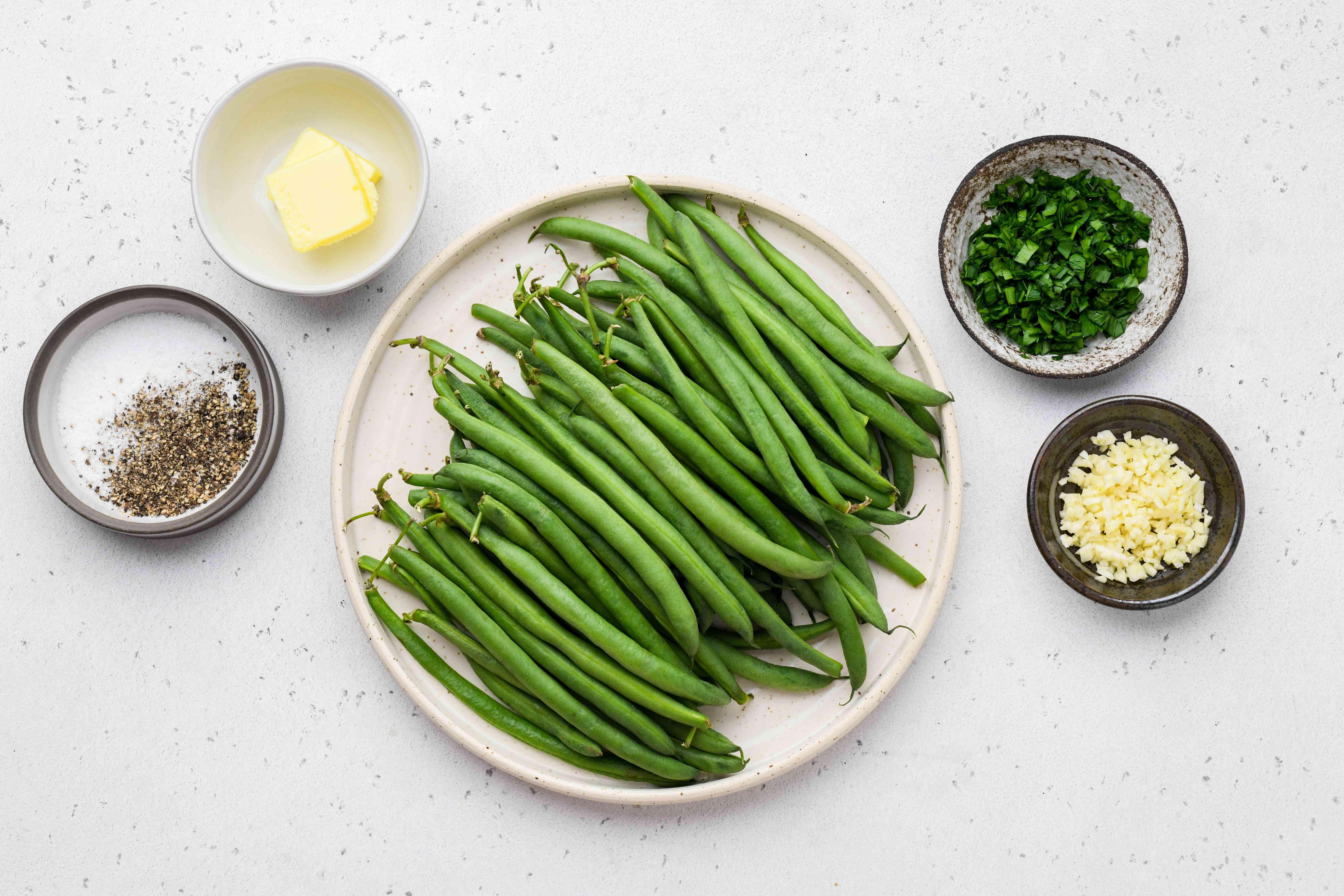 Easy Garlic Green Beans ingredients