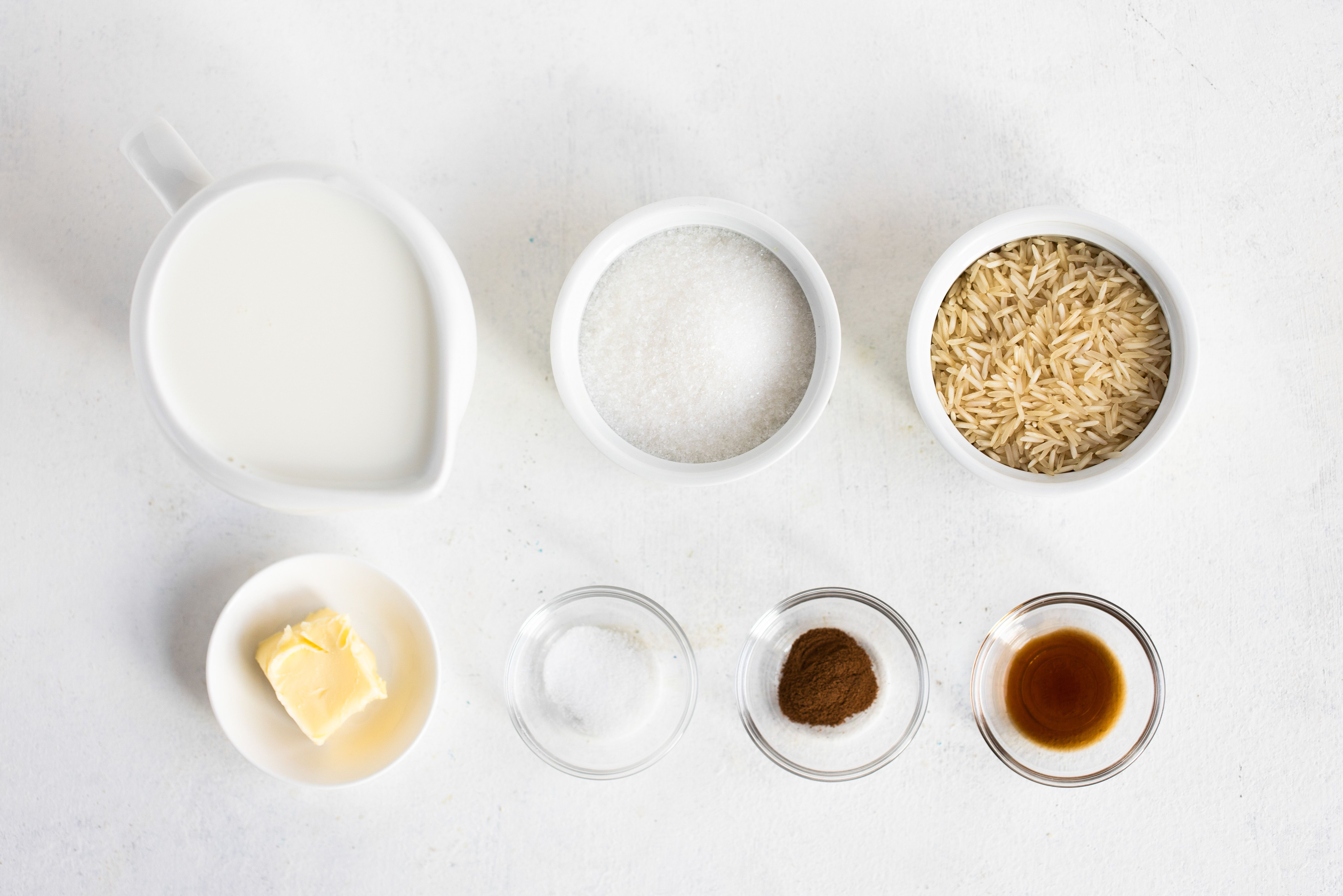 Slow Cooker Rice Pudding ingredients