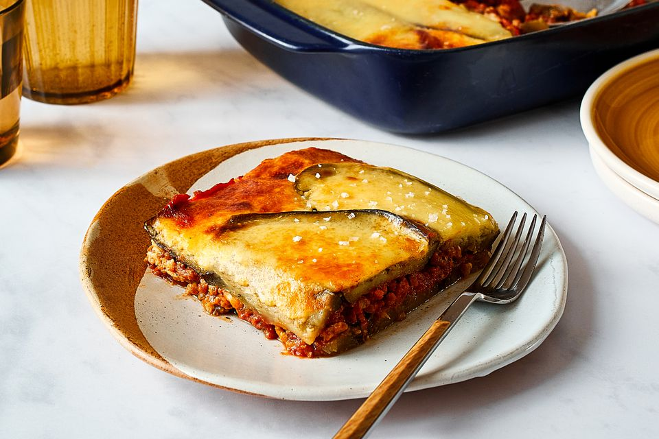 Moussaka - Eggplant With Ground Beef (or Lamb) and Cheese