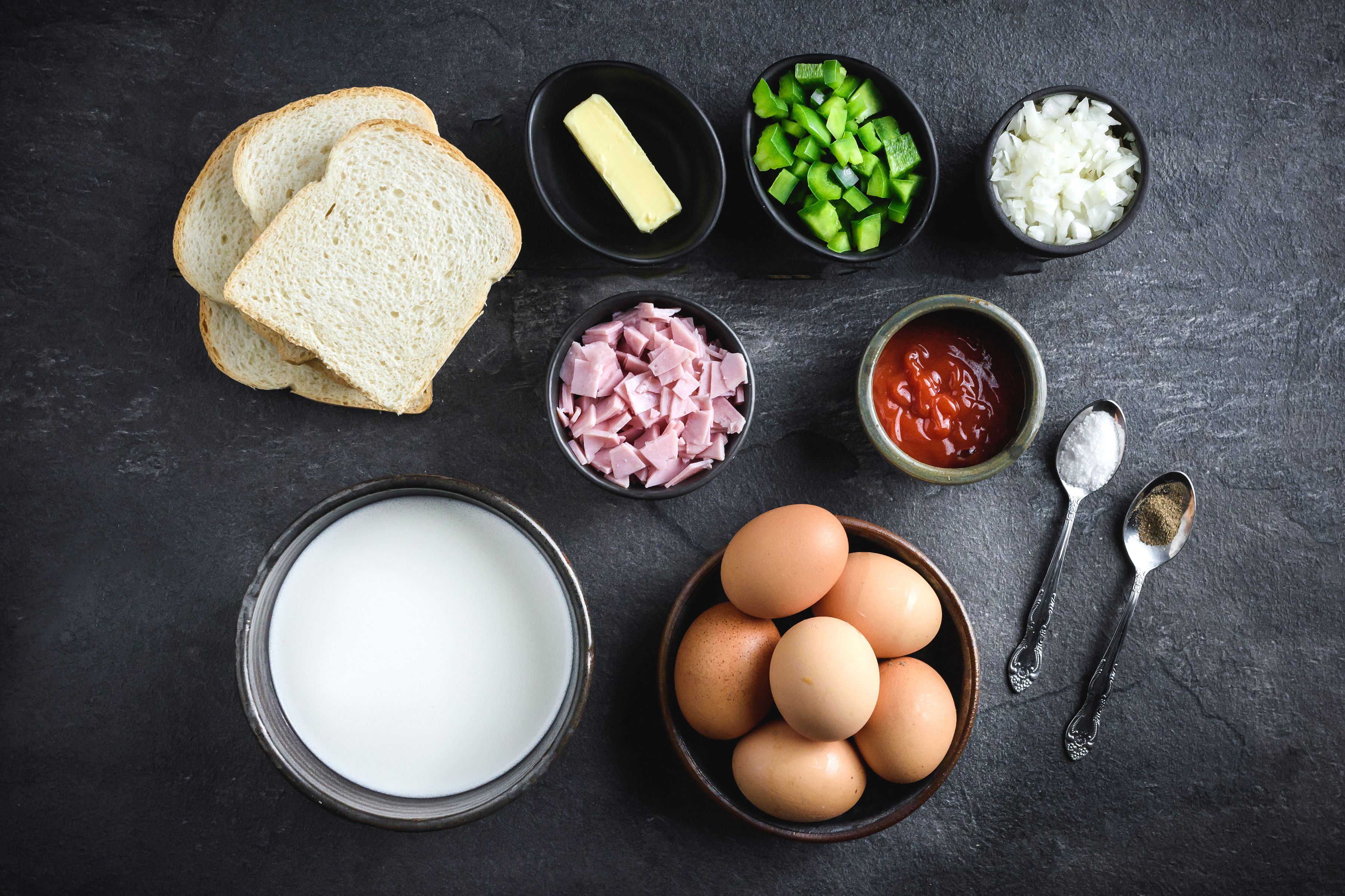 Ingredients for Western omelet
