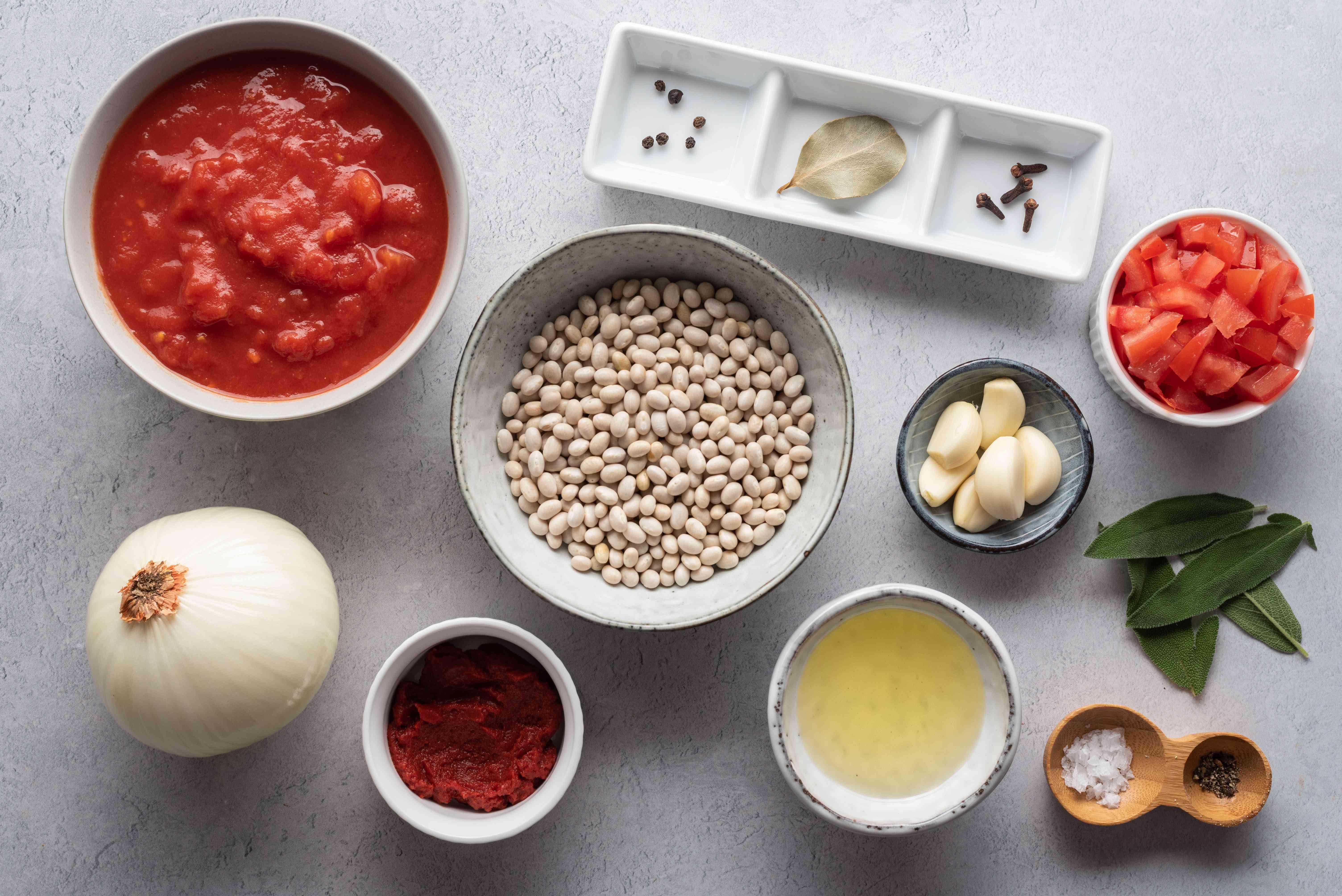 Homemade Irish Baked Beans ingredients