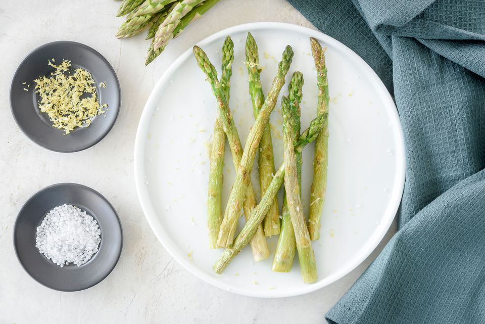 Pan-roasted asparagus