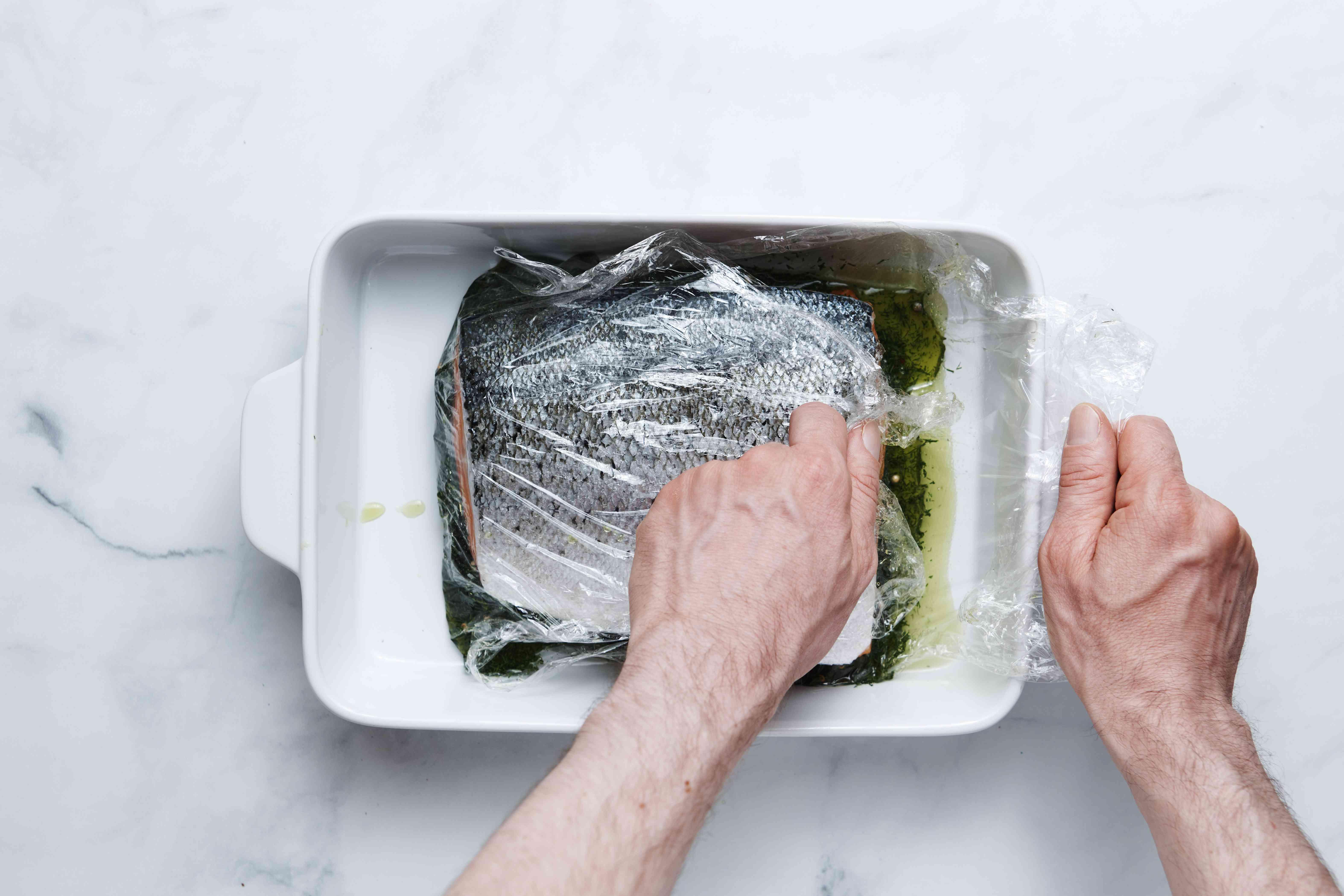 lox in a baking dish
