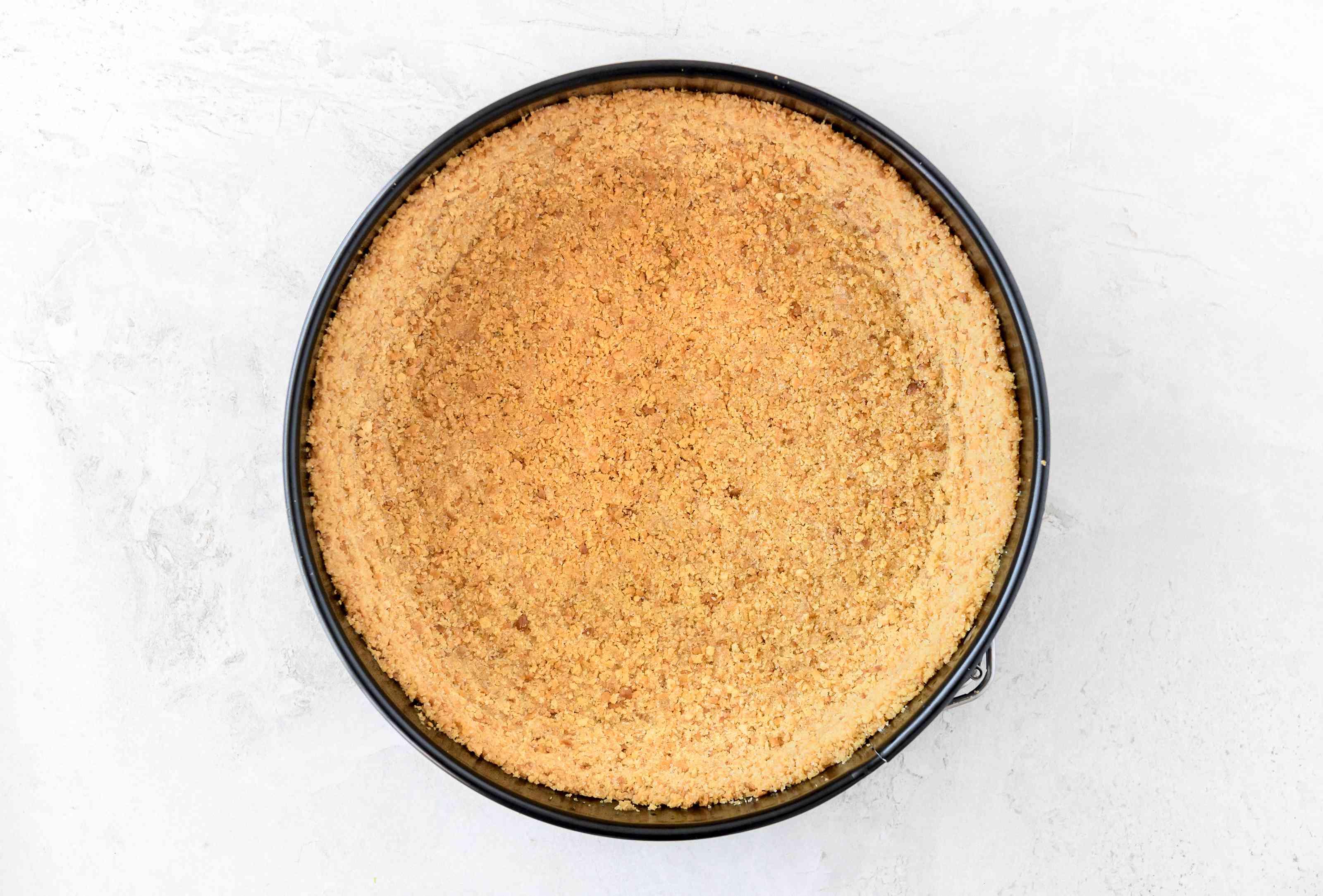 Browned dairy-free cheesecake crust