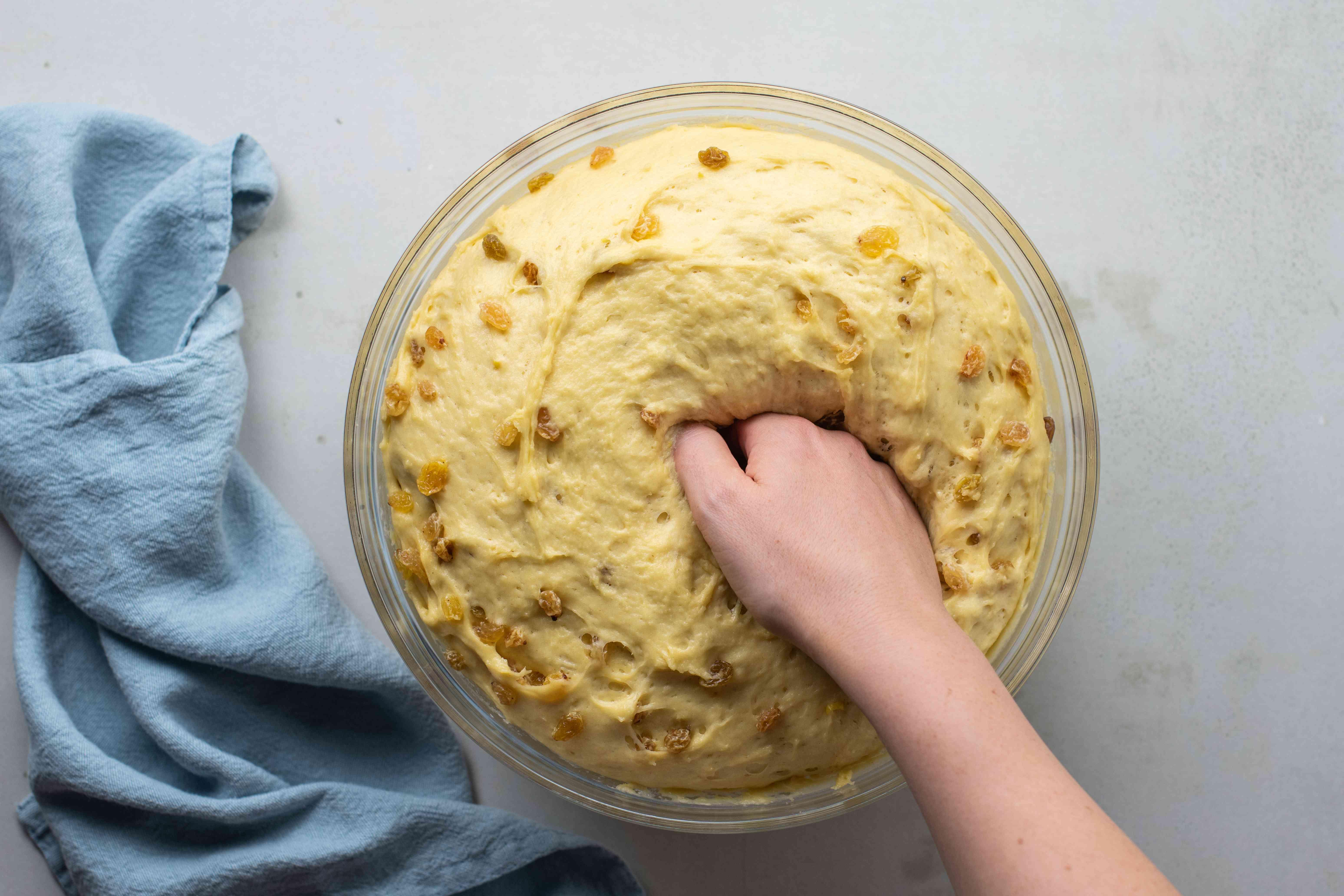 Punch down dough