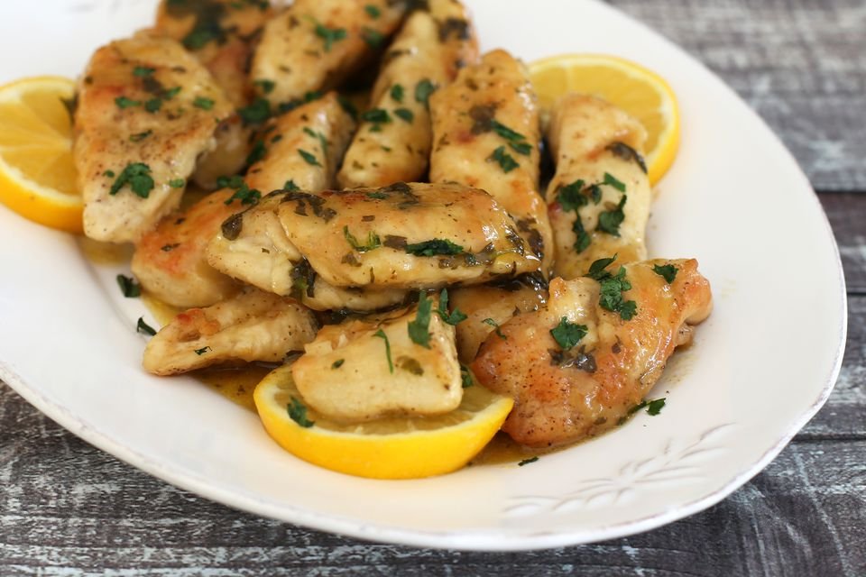 Top 48 best boneless chicken breast recipes chicken strips piccata with meyer lemons forumfinder Image collections