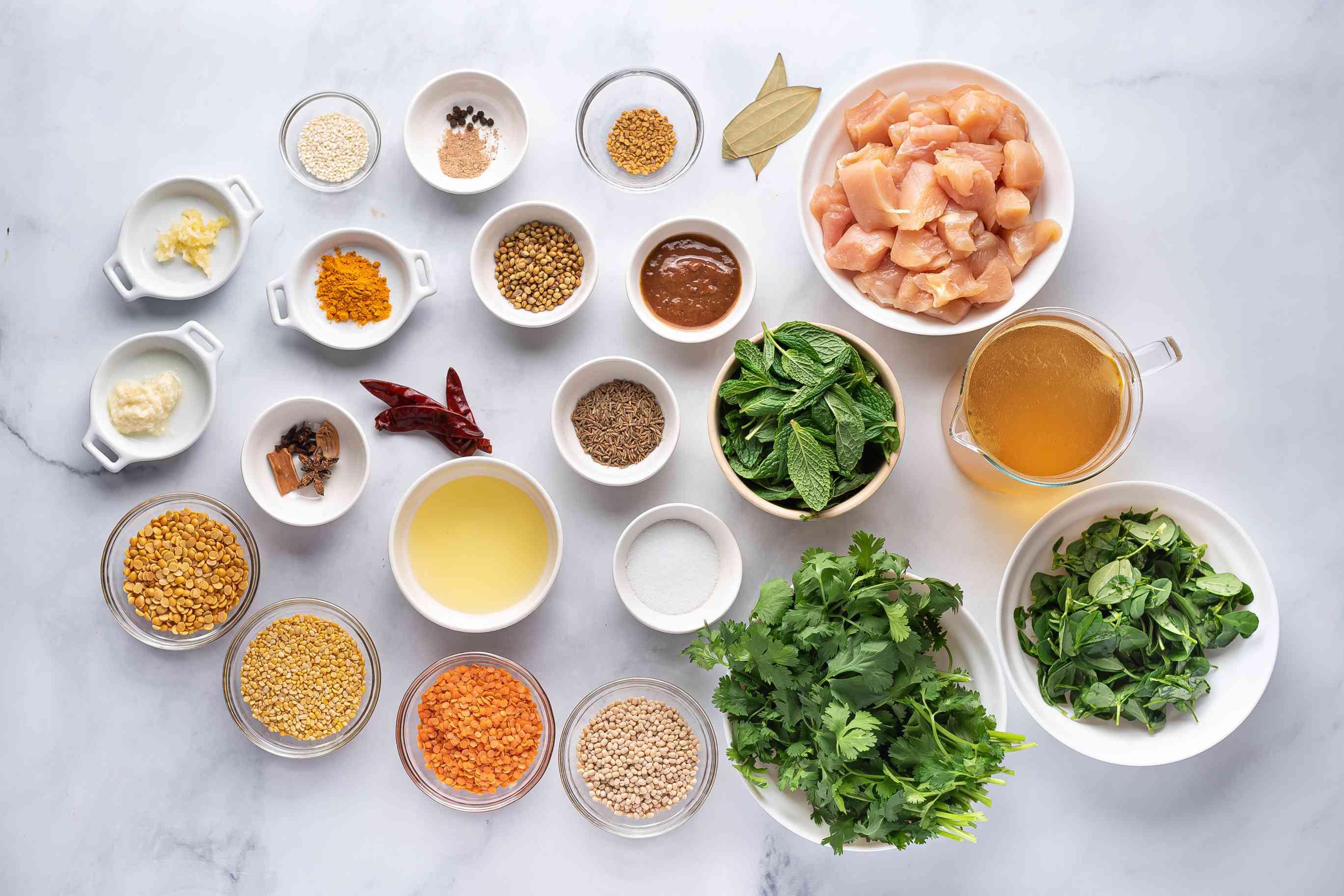 Chicken Dhansak Parsi ingredients