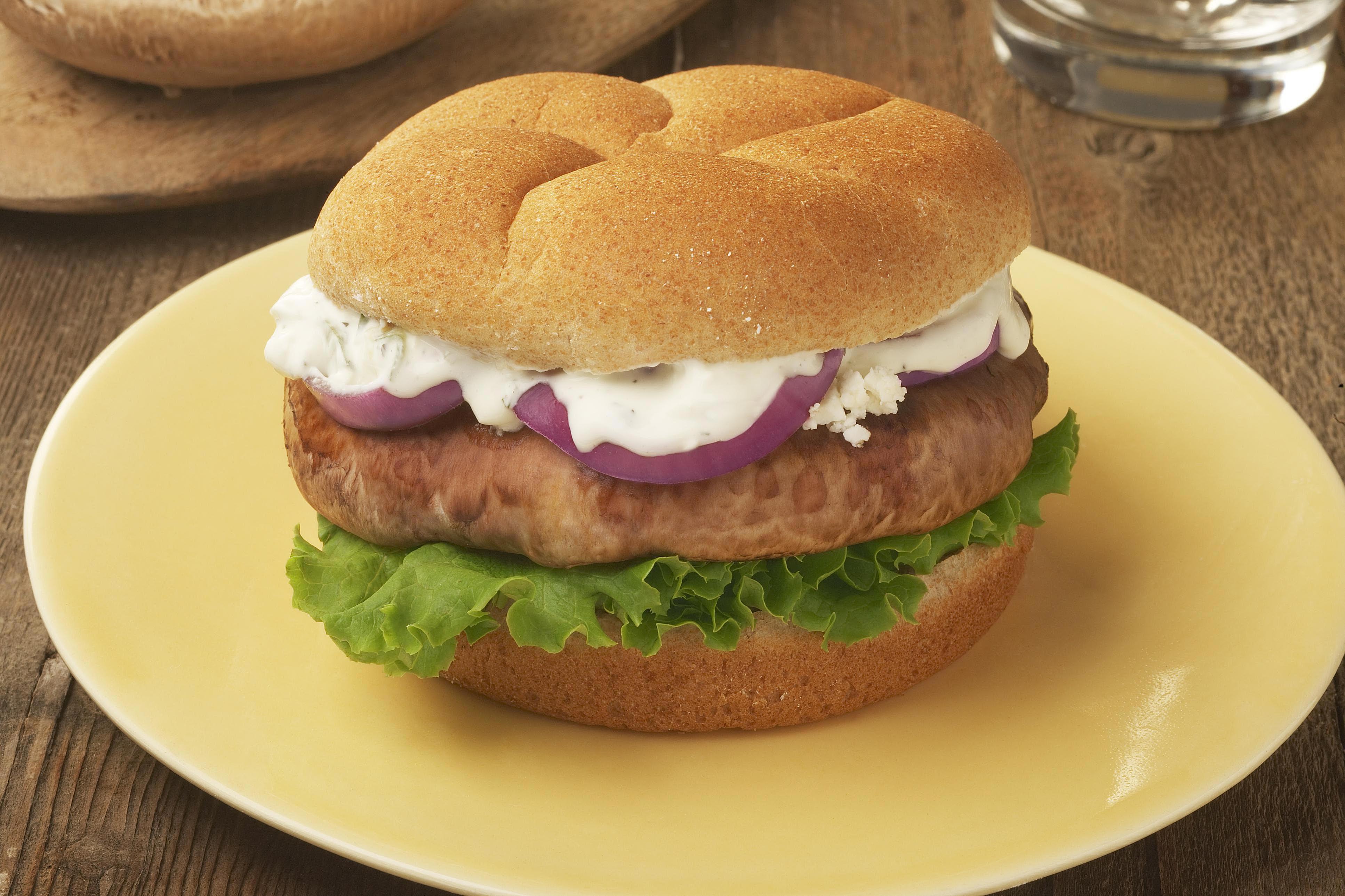 Mushroom Veggie Burger: Opposite of Bland