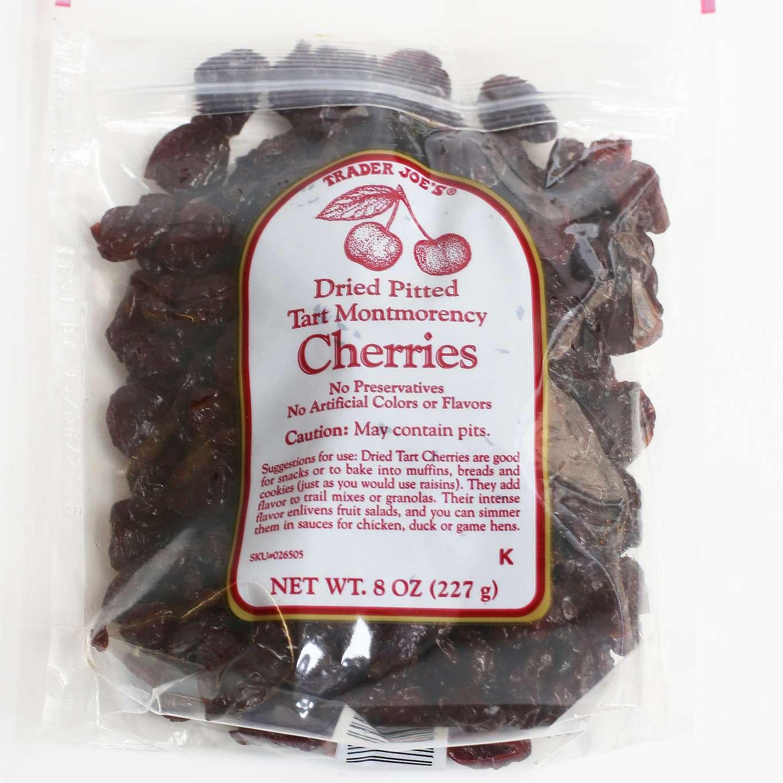 Dried cherries at Trader Joe's