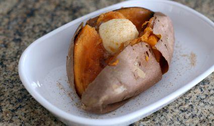 Baked Sweet Potato With Cinnamon Sugar