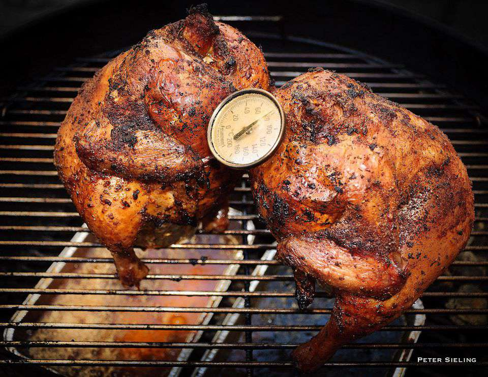 Smoked Beer in the Butt Chicken