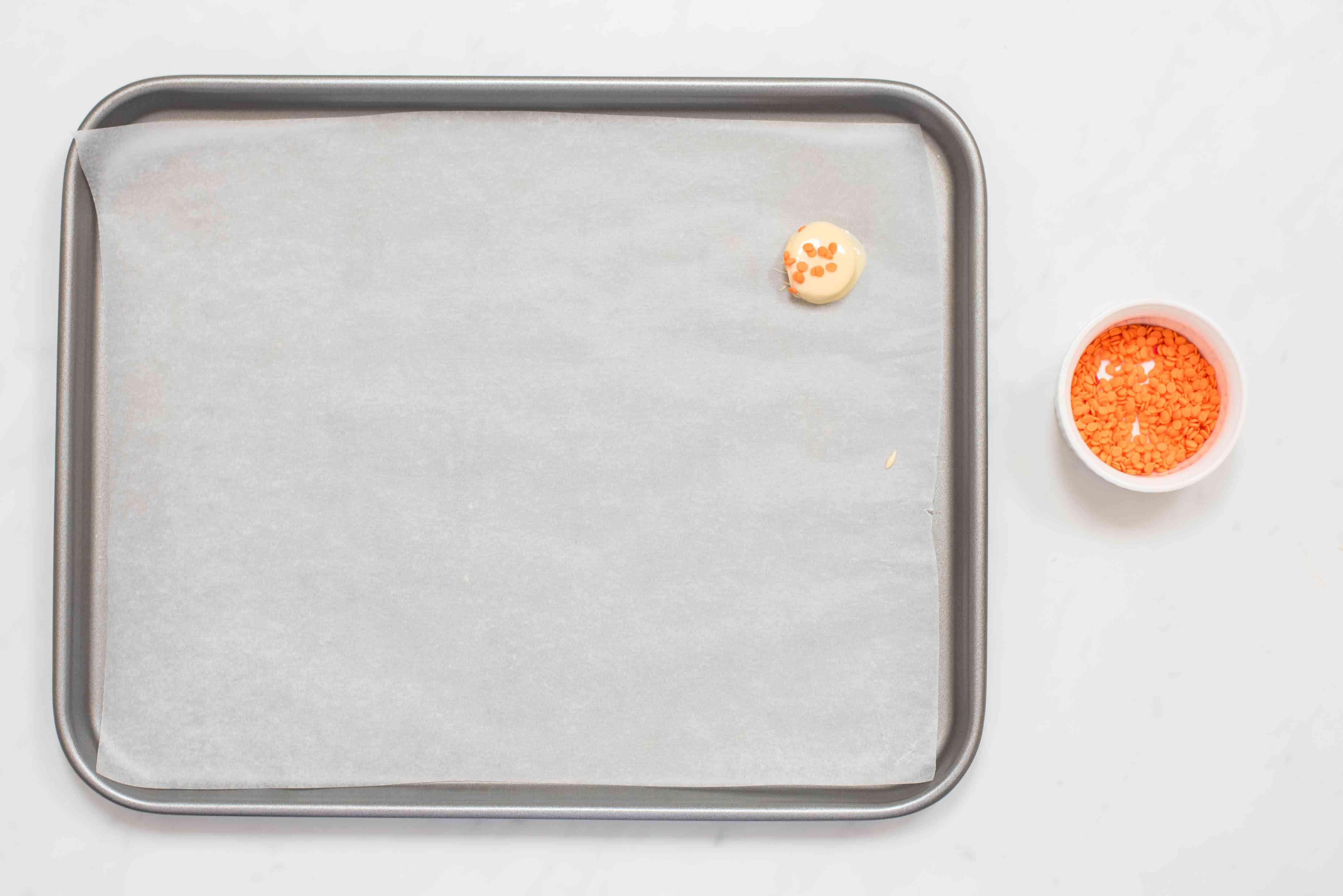 Set on tray