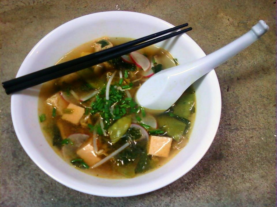 Healthy Spinach Soup With Tofu