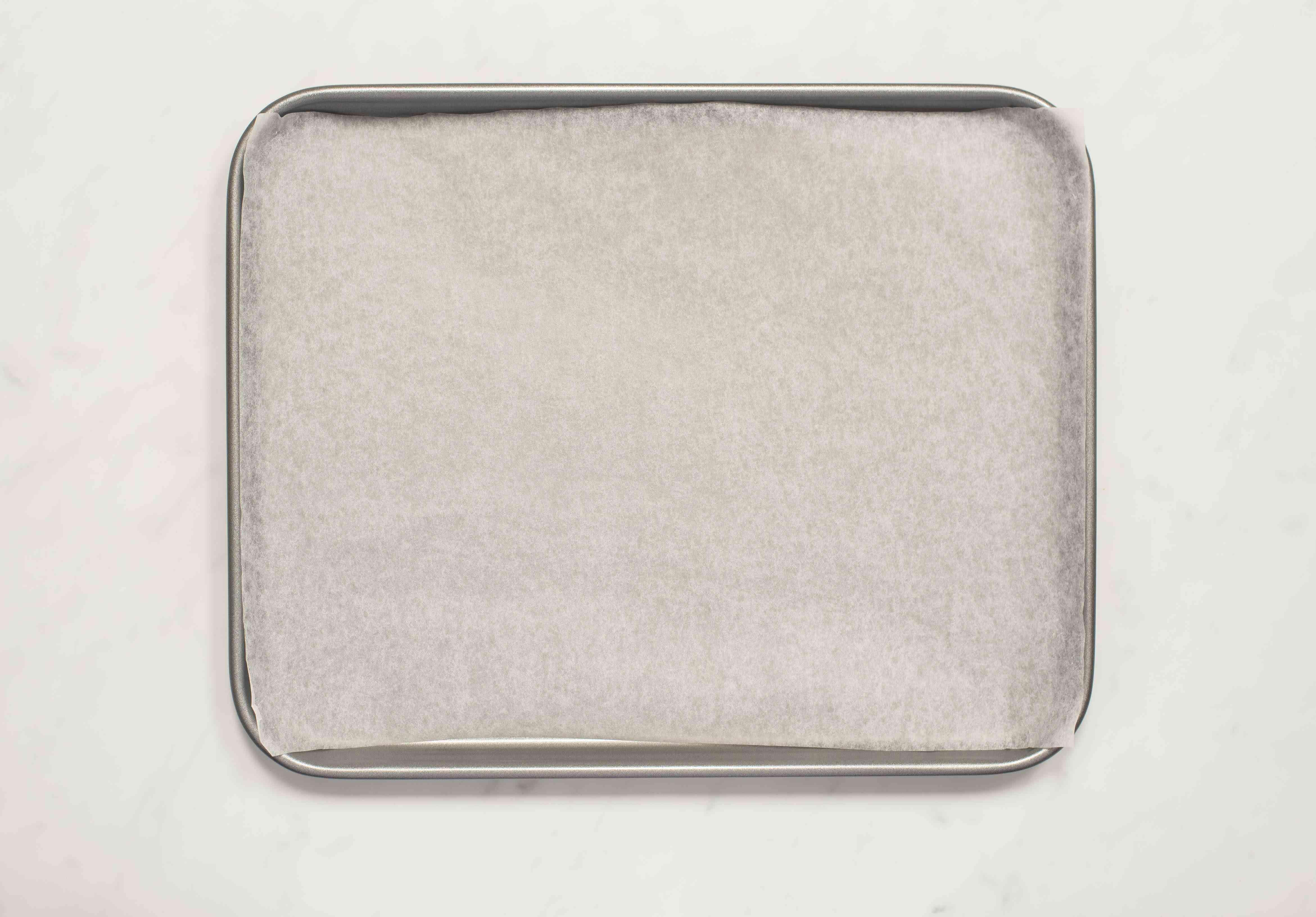 Line baking sheet