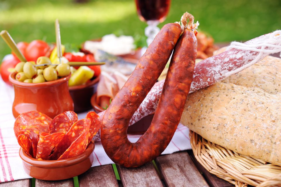 Chorizo with tapas