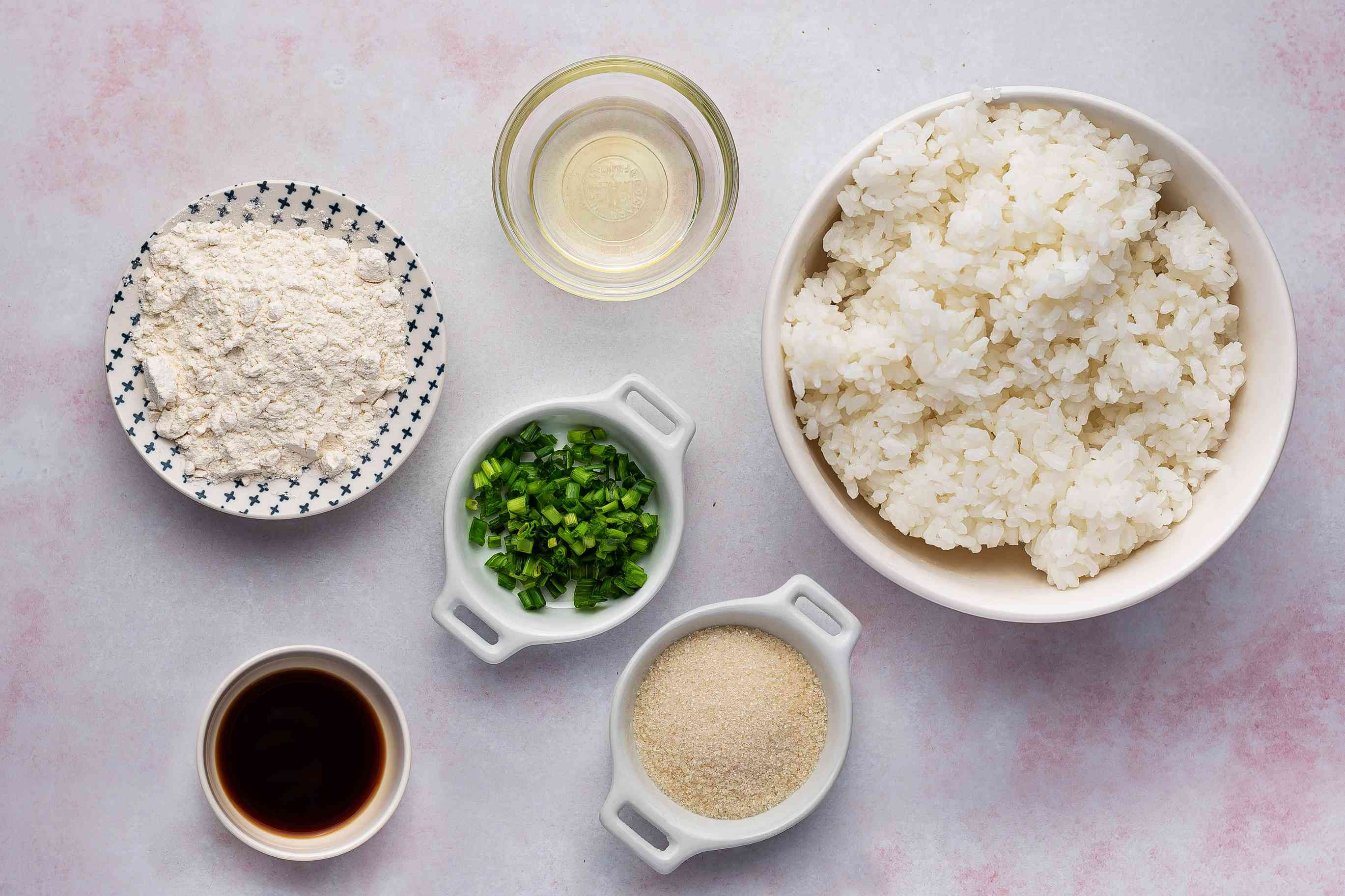 Ingredients for rice cakes