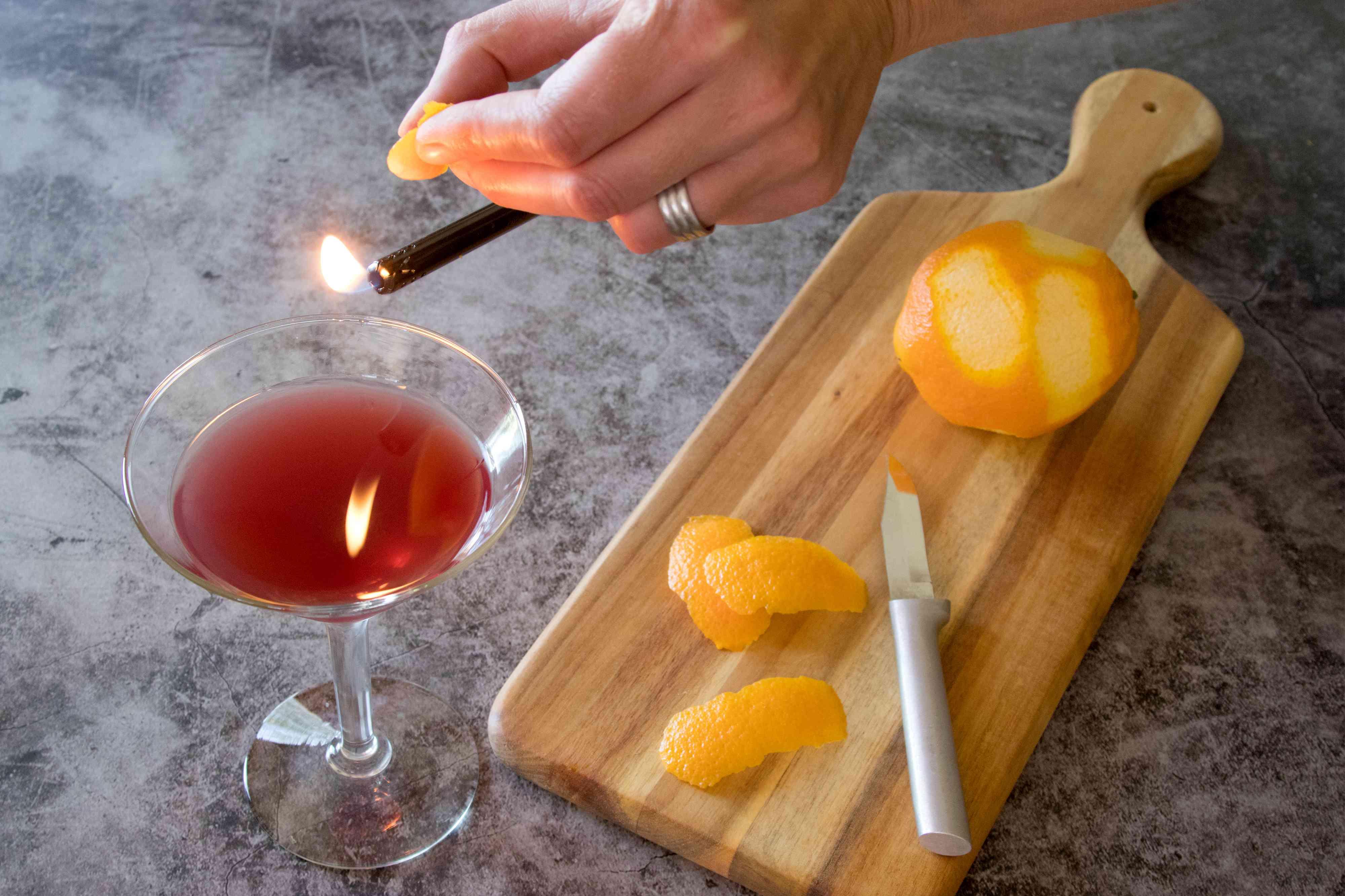 Flaming an Orange Peel