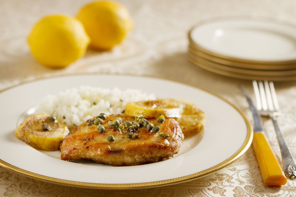 Chicken Piccata - chicken with lemon and capers.