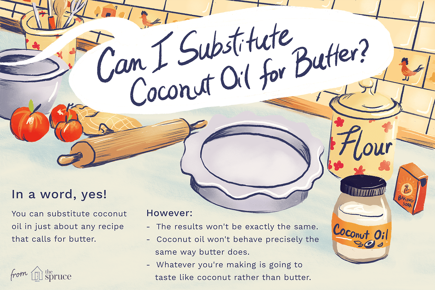 illustration: can i substitute coconut oil for butter