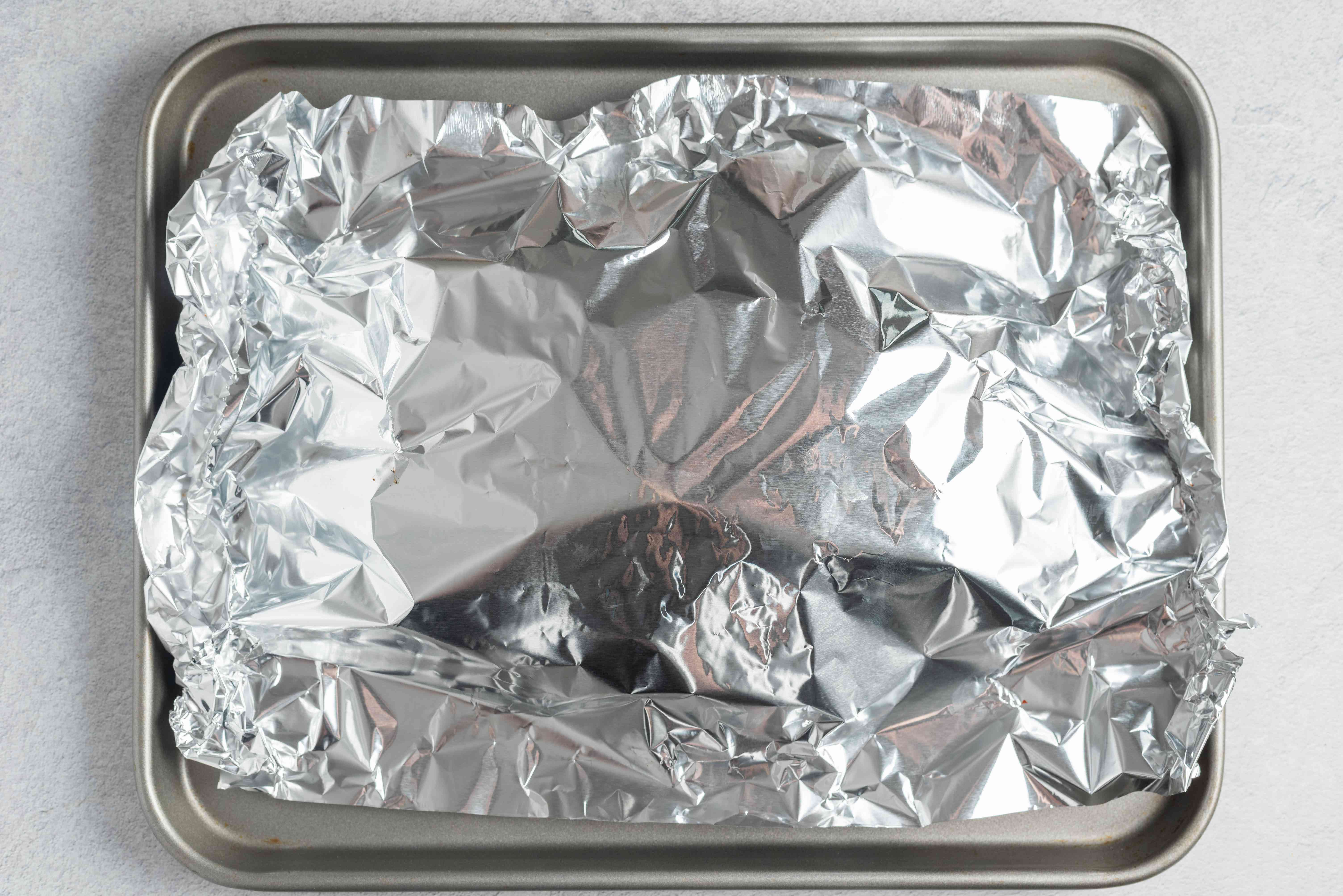 Cover in tinfoil
