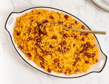 Caribbean Yellow Rice and Pink Beans