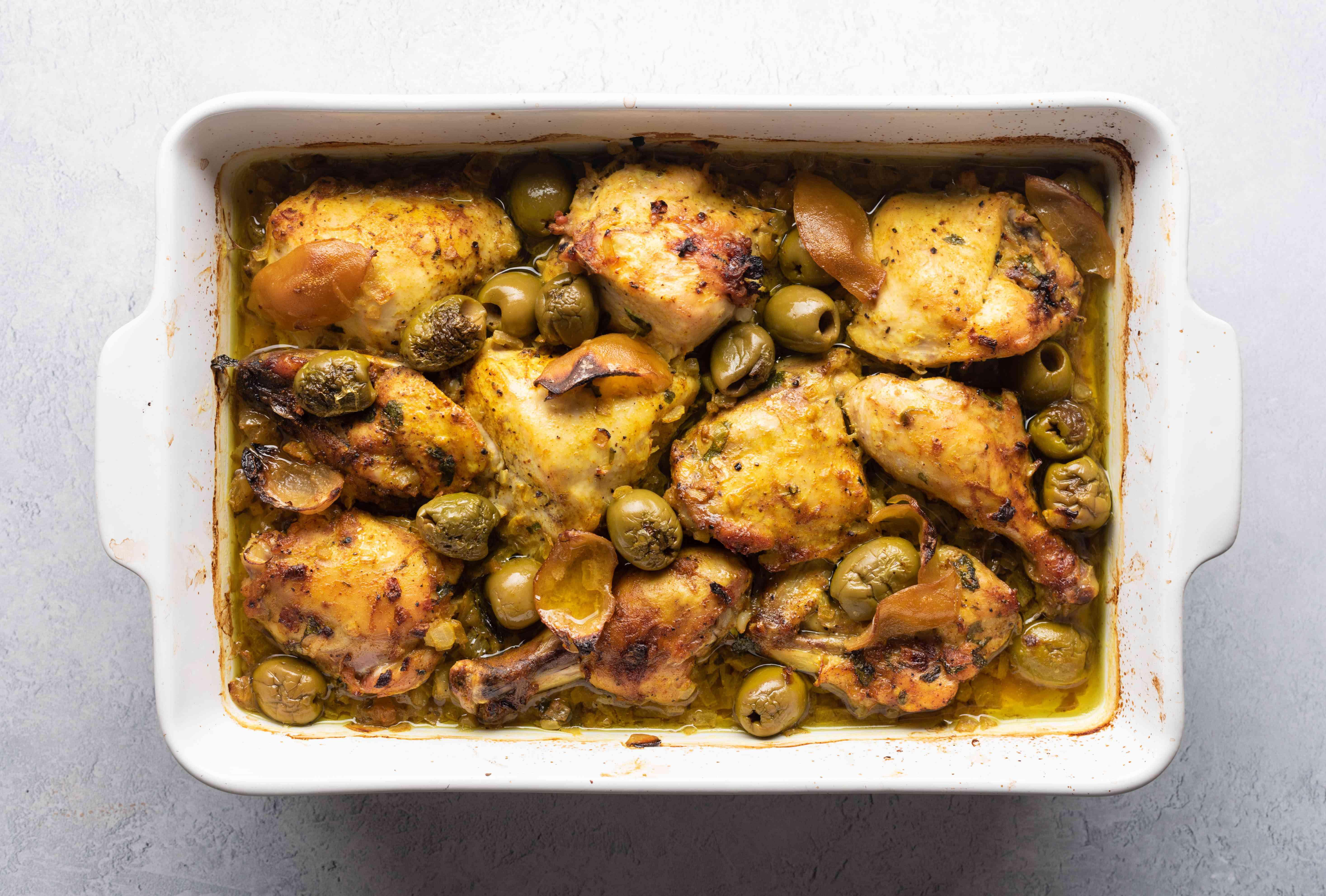 Basting chicken tagine