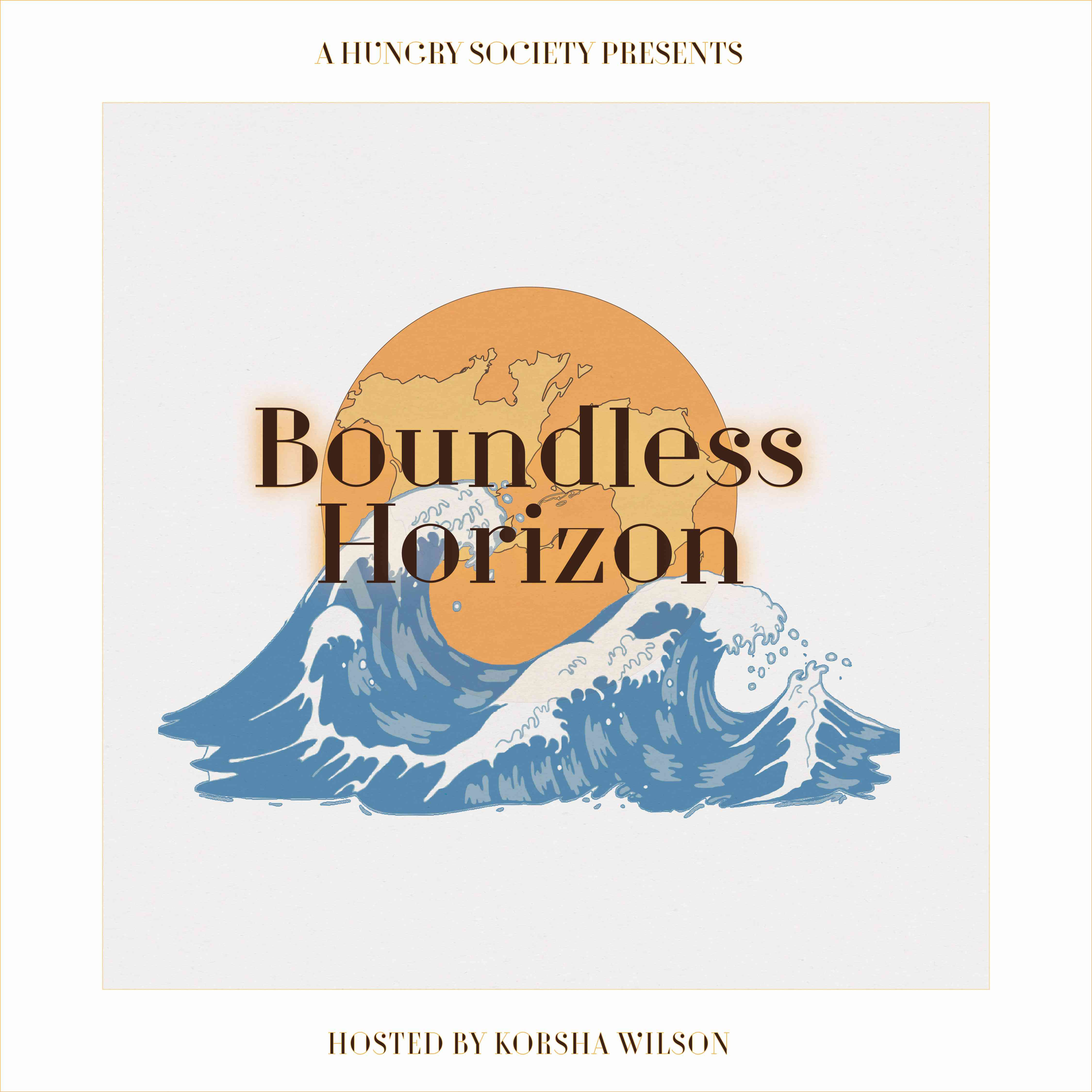 image of boundless horizon logo: sun and waves with title across