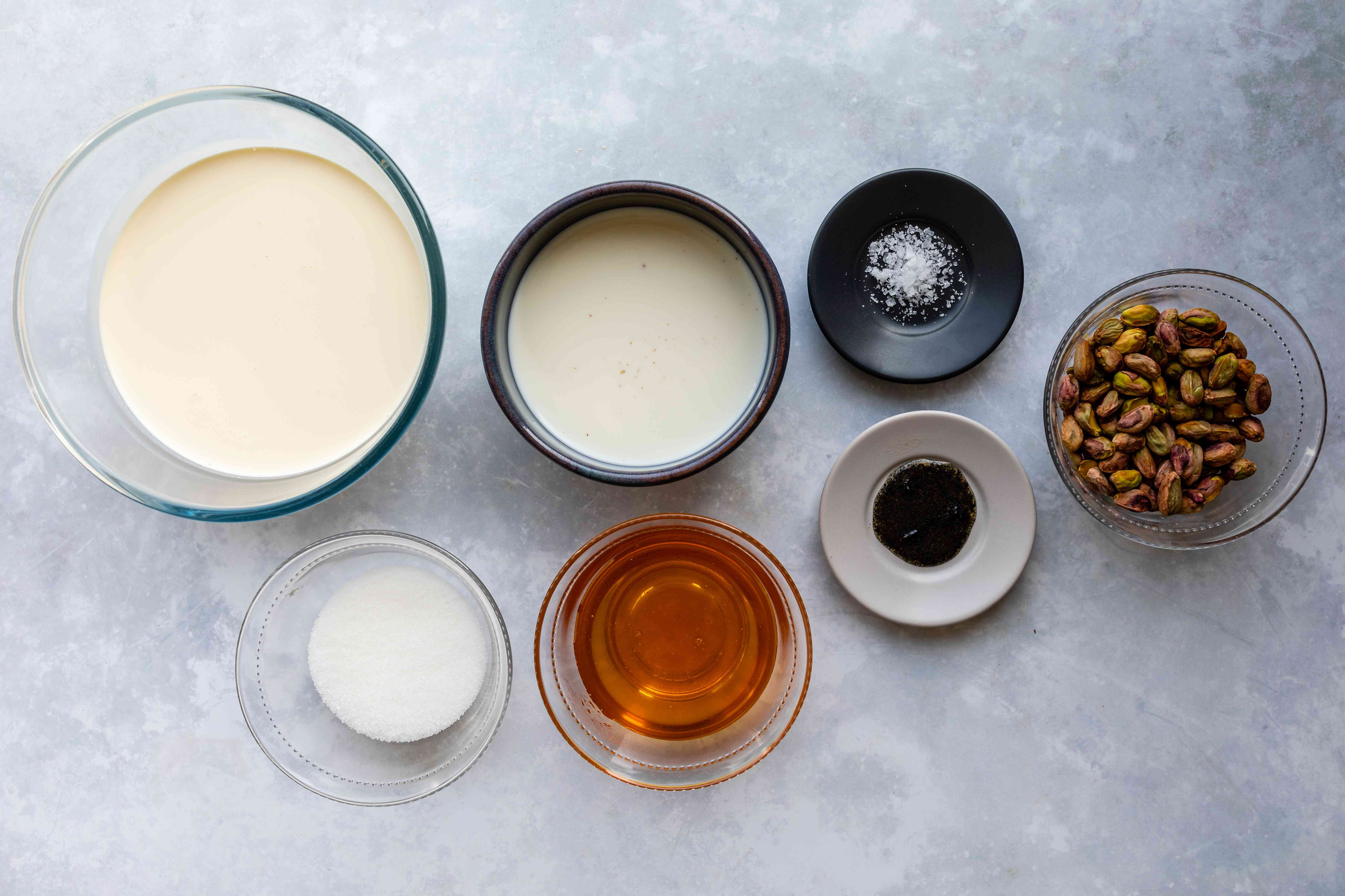 Ingredients for honey pistachio