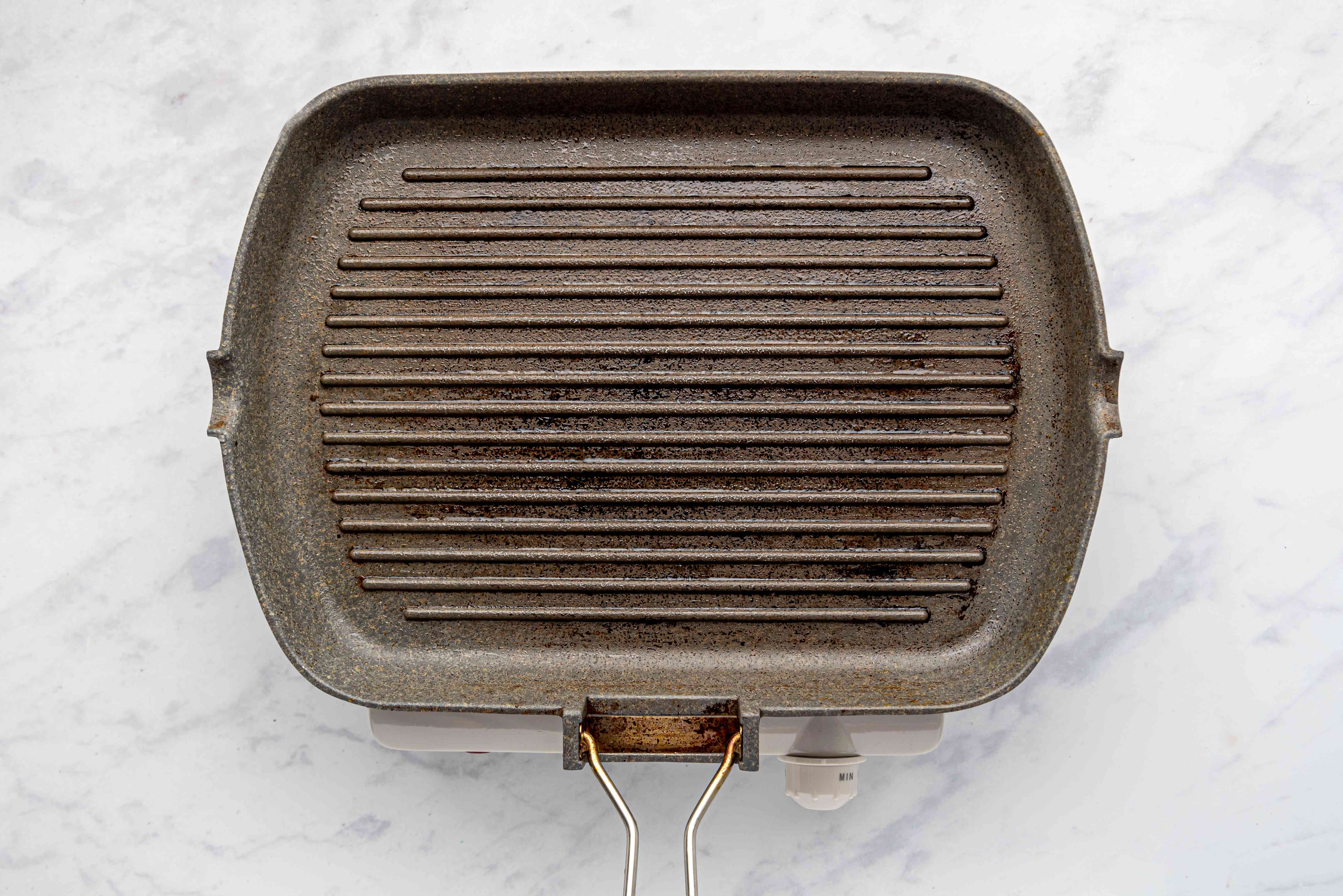 oiled grill pan