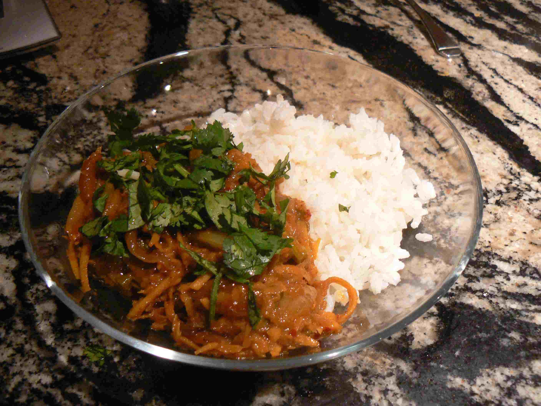 Rendang Shallot and Asparagus Curry