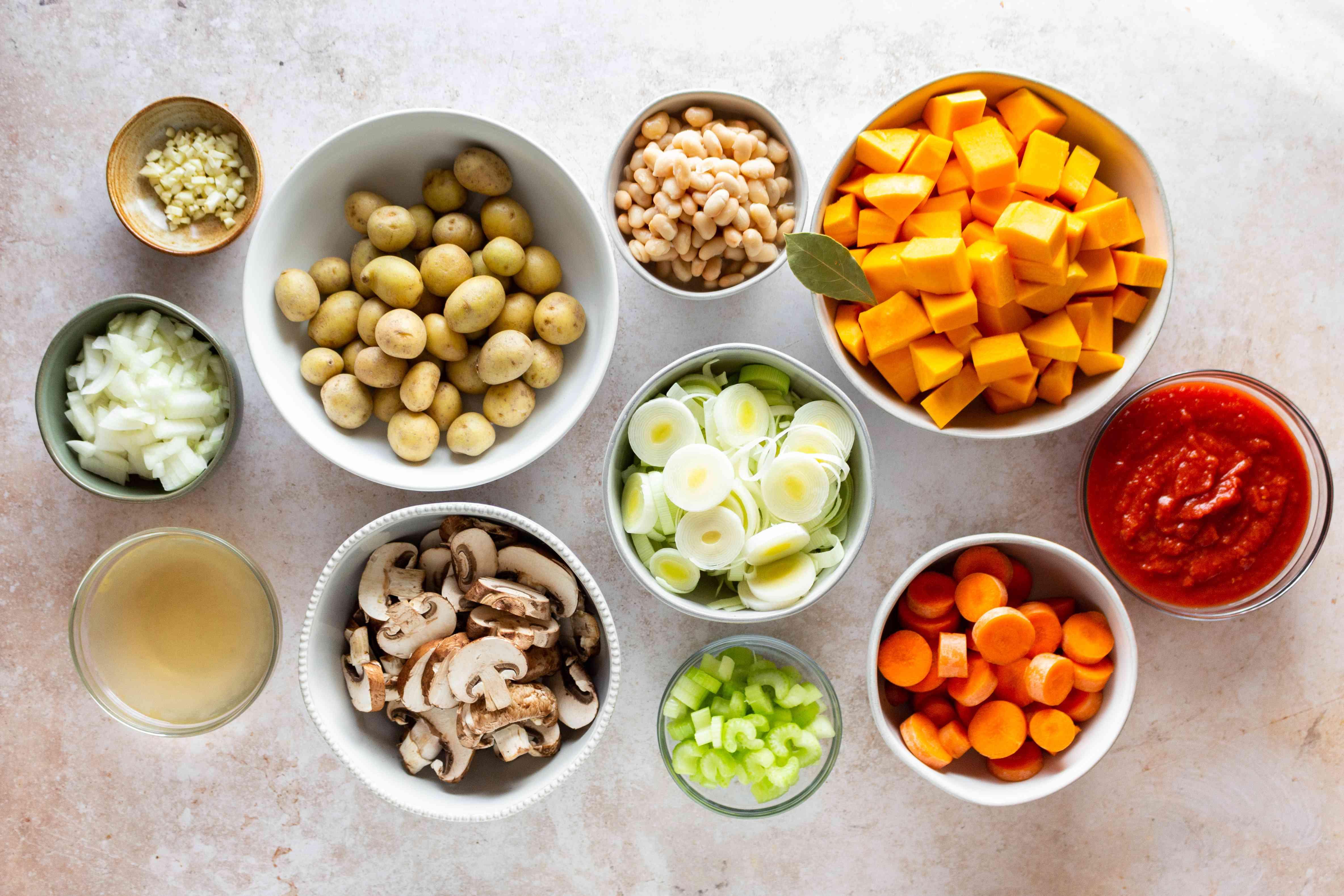 Slow Cooker Vegetable Stew ingredients