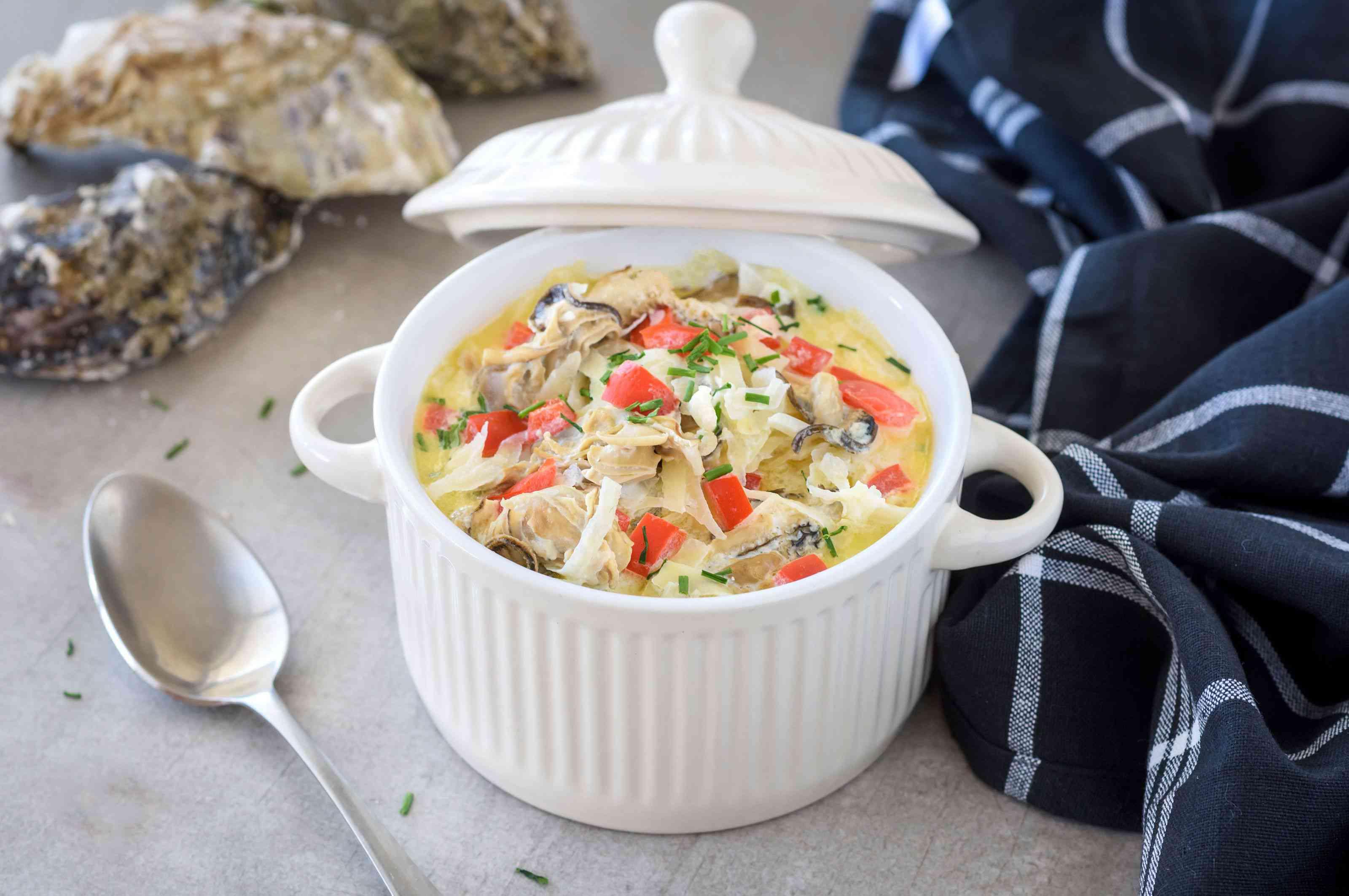 Crock pot oyster stew