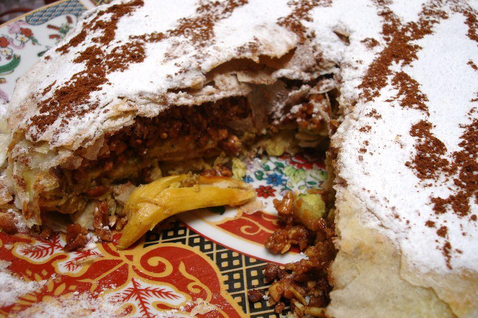 bastilla marroquí de pollo
