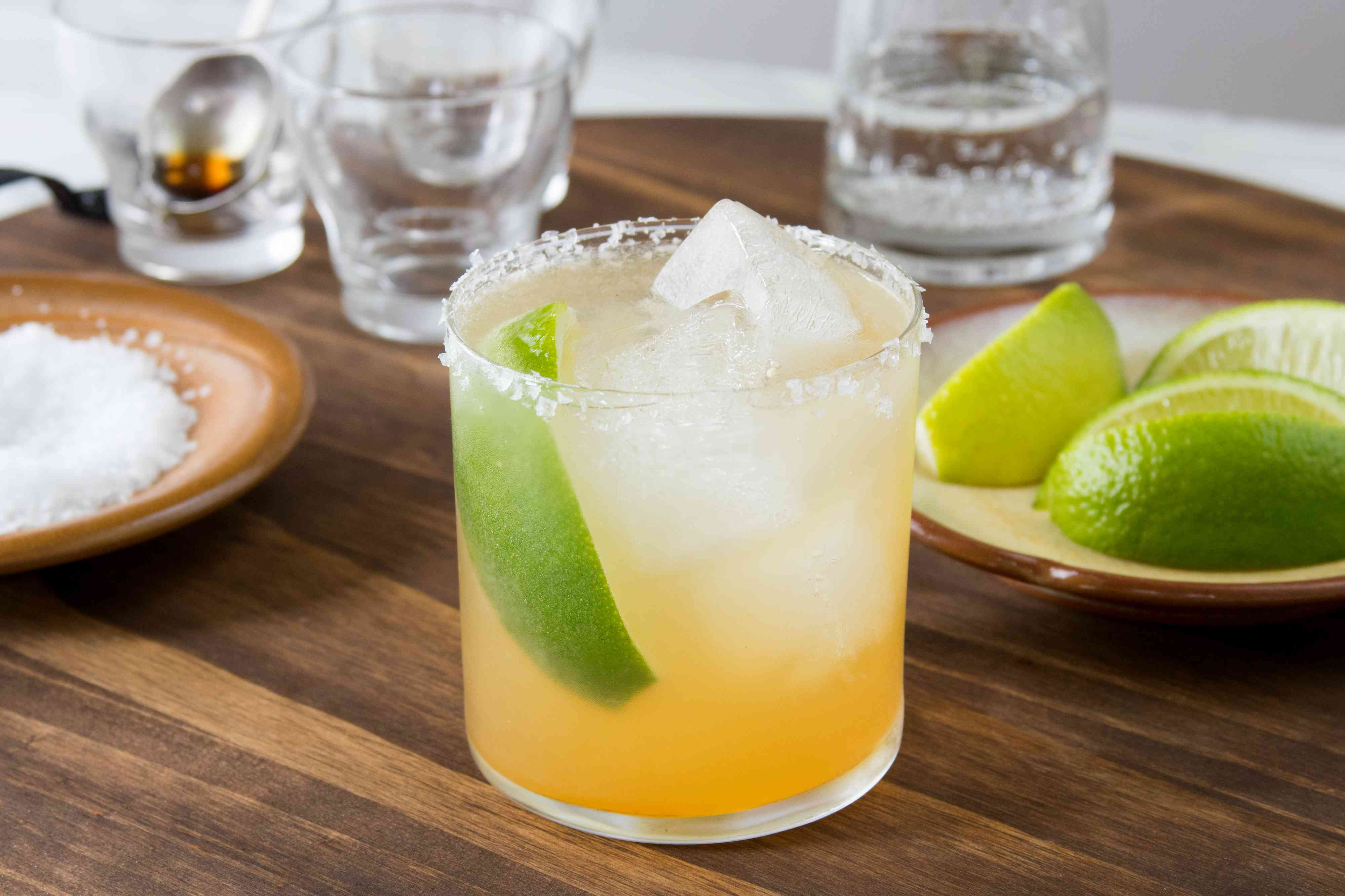 Virgin Margarita With a Lime Wedge