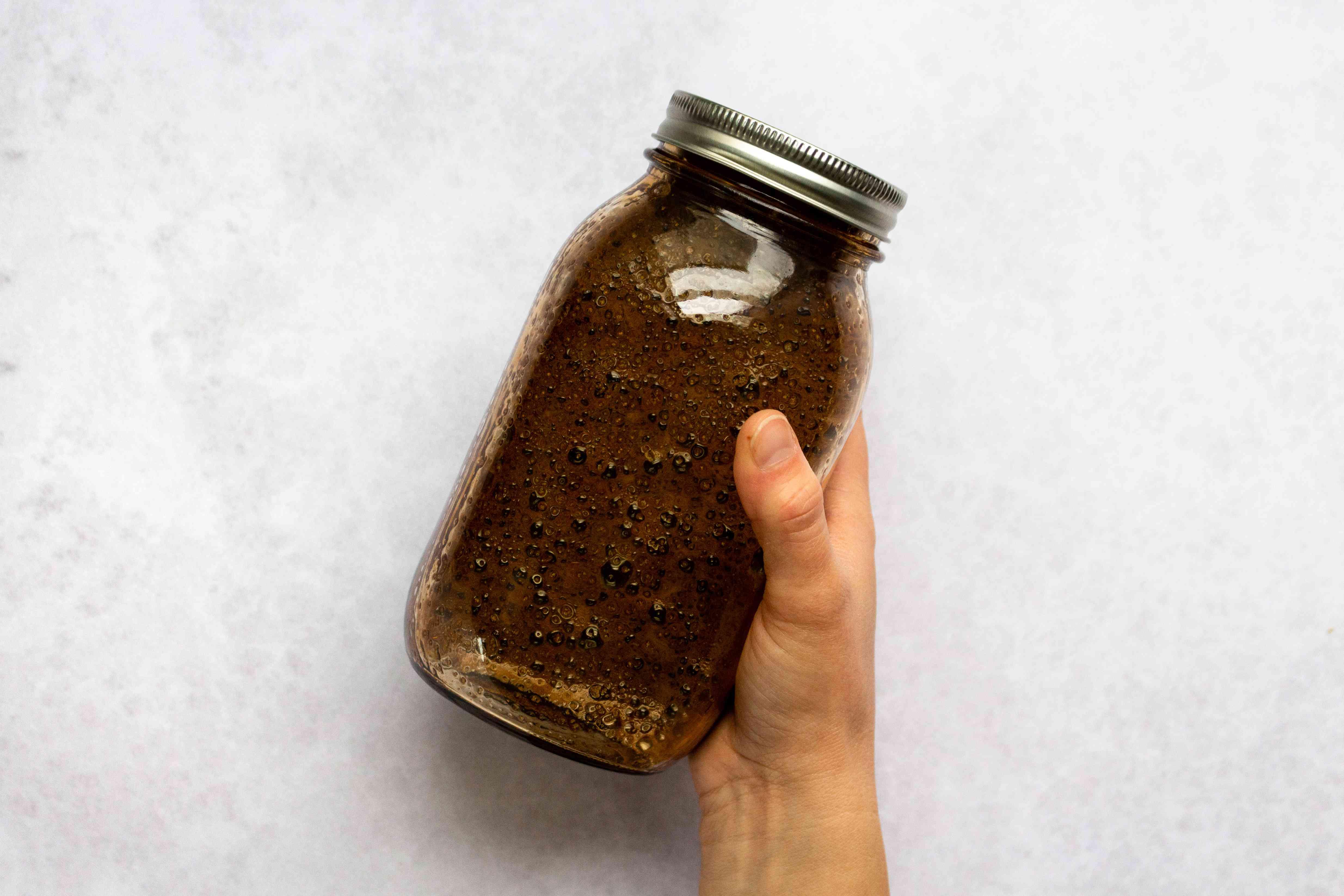 Gluten-Free Teriyaki Sauce ingredients in a jar