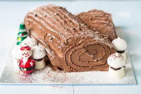 Classic French Chocolate Buche De Noel