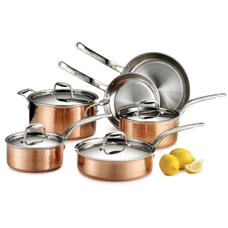 langostina copper cookware set