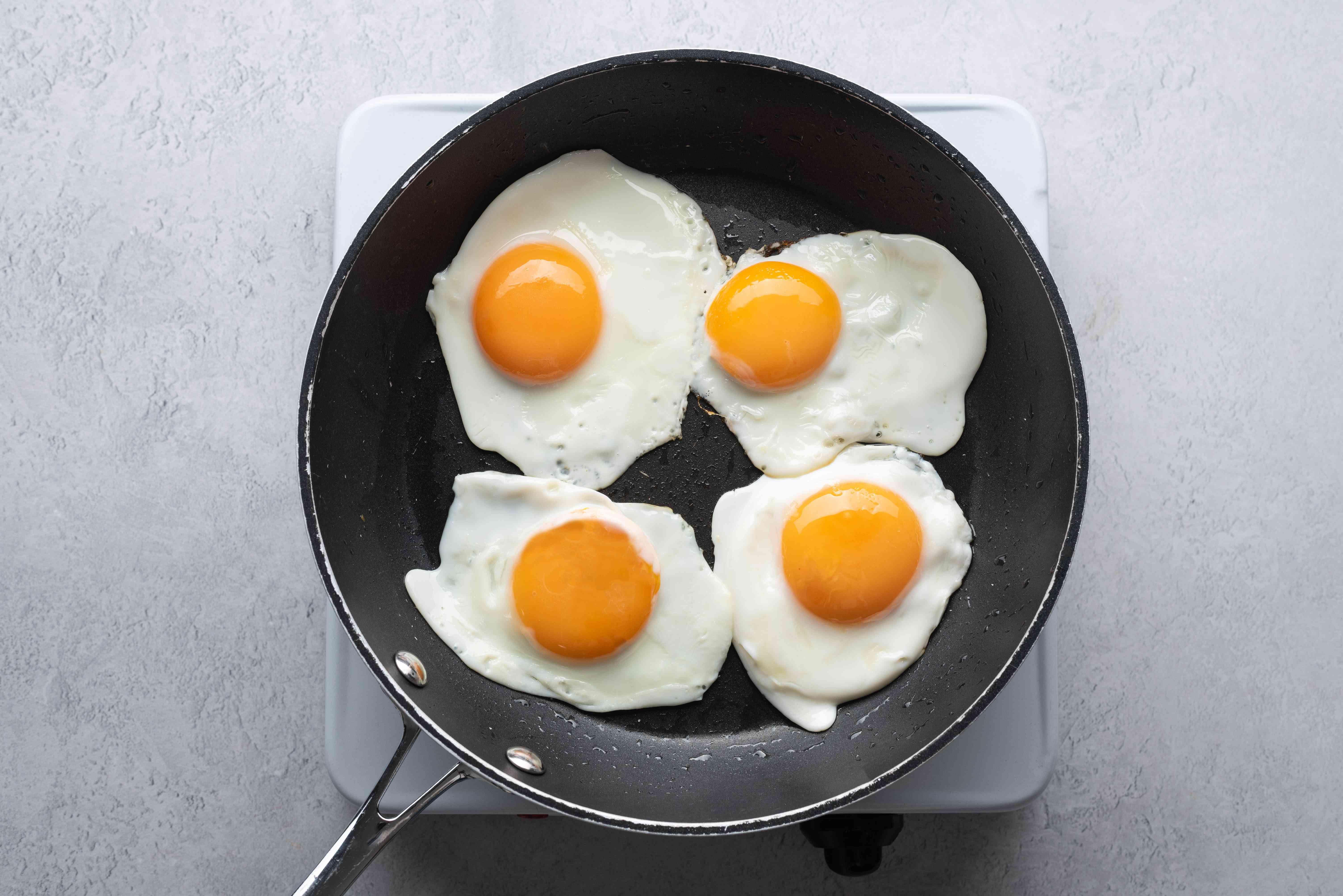eggs frying in the pan