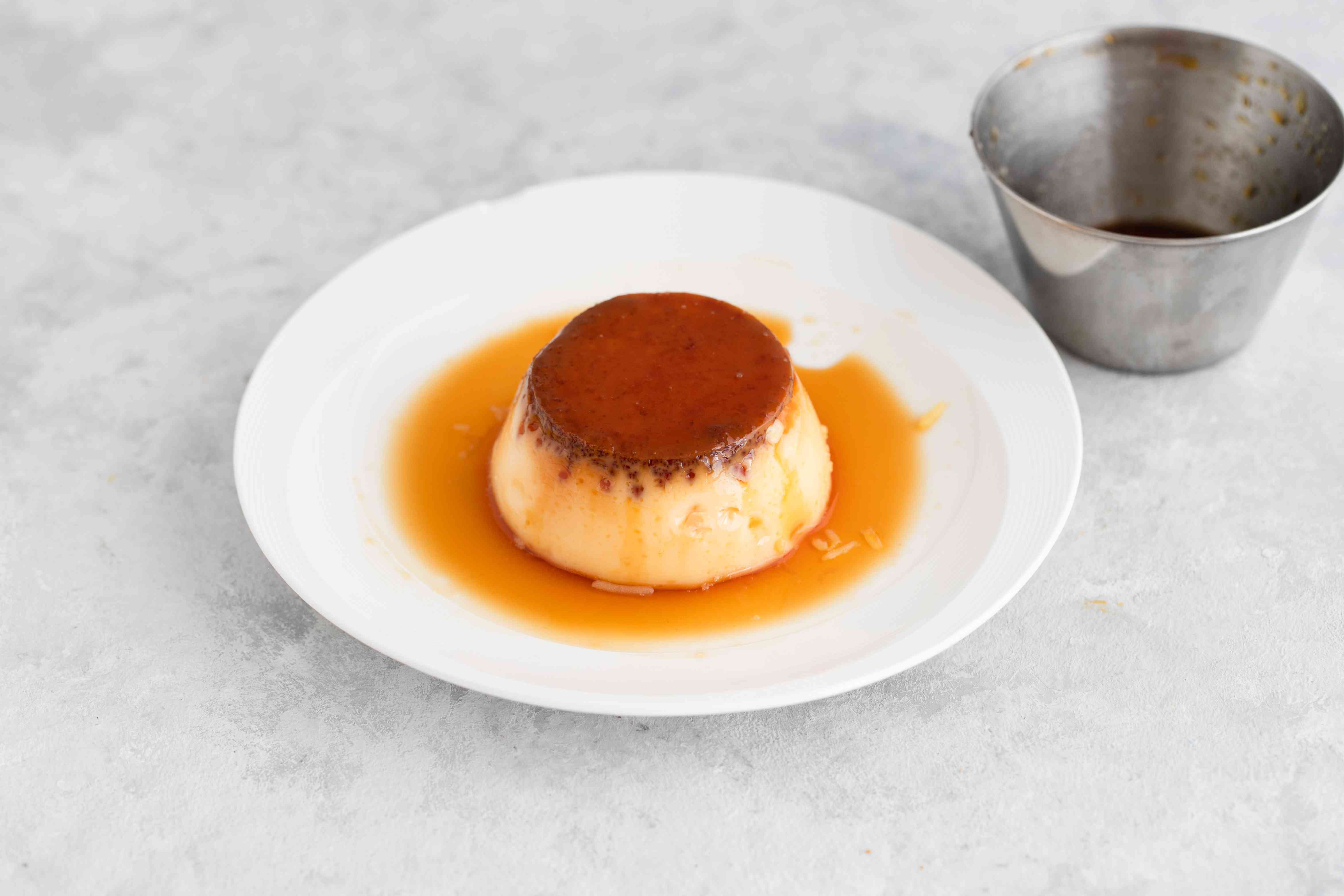 Remove from molds and enjoy Purin, Japanese custard pudding